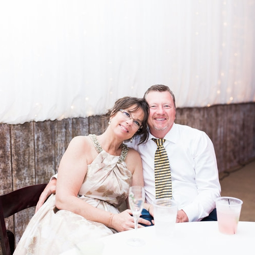 The two of us at our son's, Stewart's, wedding in 2017 at CW Ranch