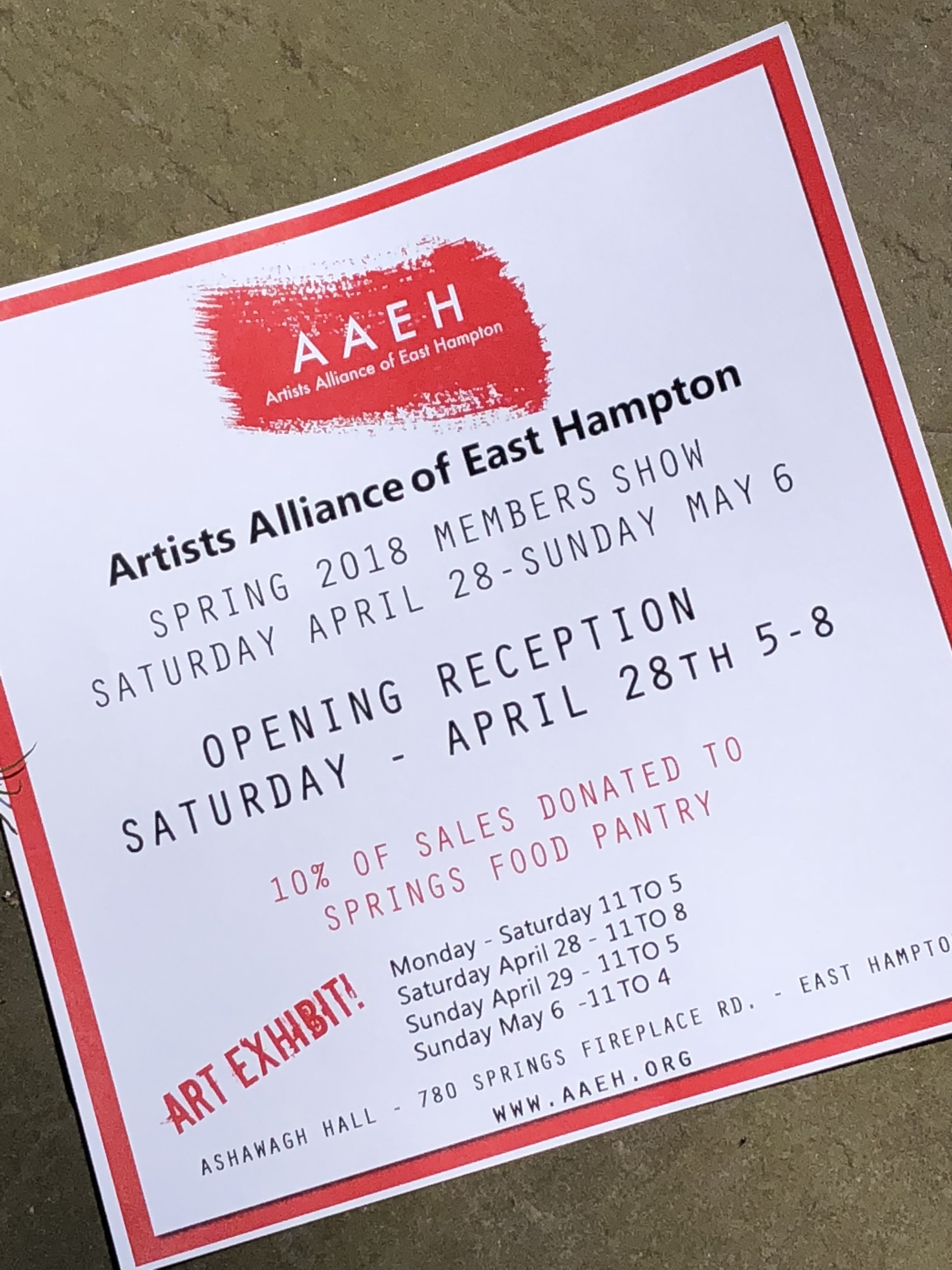 Donna Renna as a member of The Artist`s Alliance East Hampton
