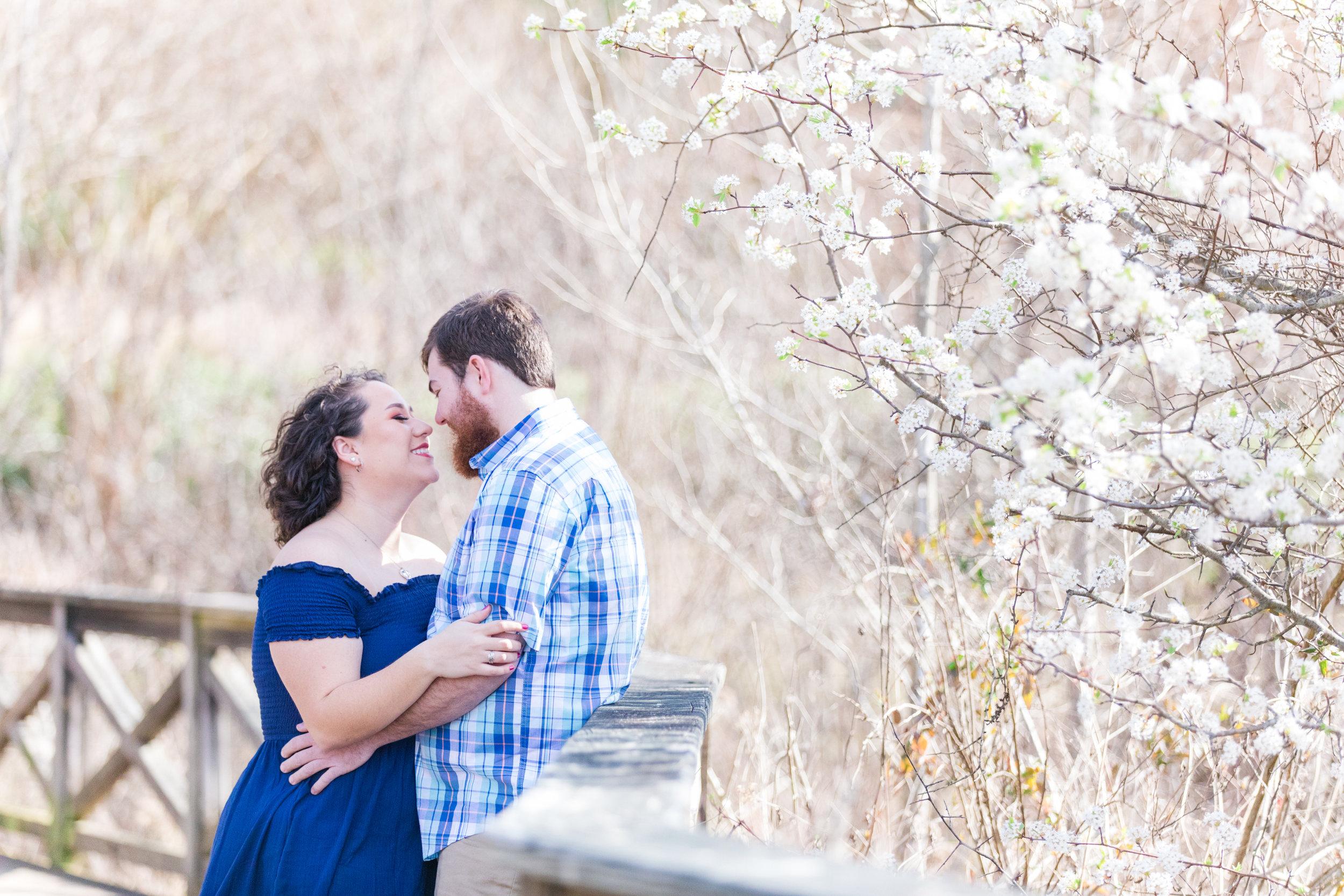Midlothian Mines Spring Engagement Session - Richmond VA Wedding Photographer - MJ Mendoza Photography