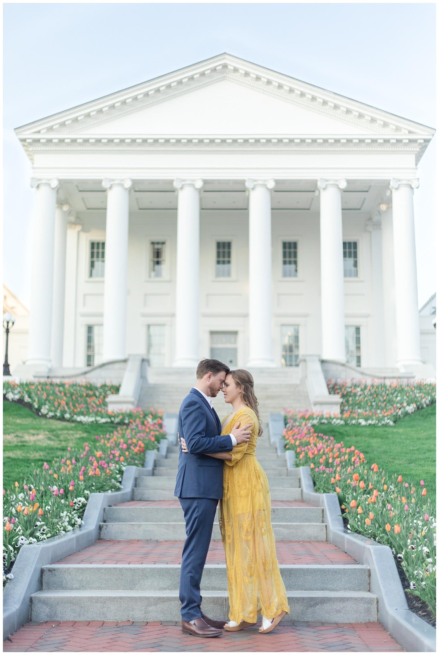 Richmond Cherry Blossom engagement session - Richmond VA Wedding Photographer
