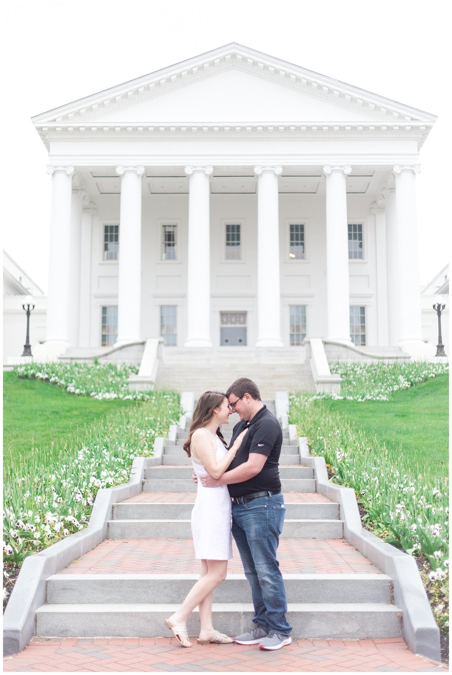 Richmond Wedding Photographer Virginia State Capitol Engagement Photo_0001.jpg