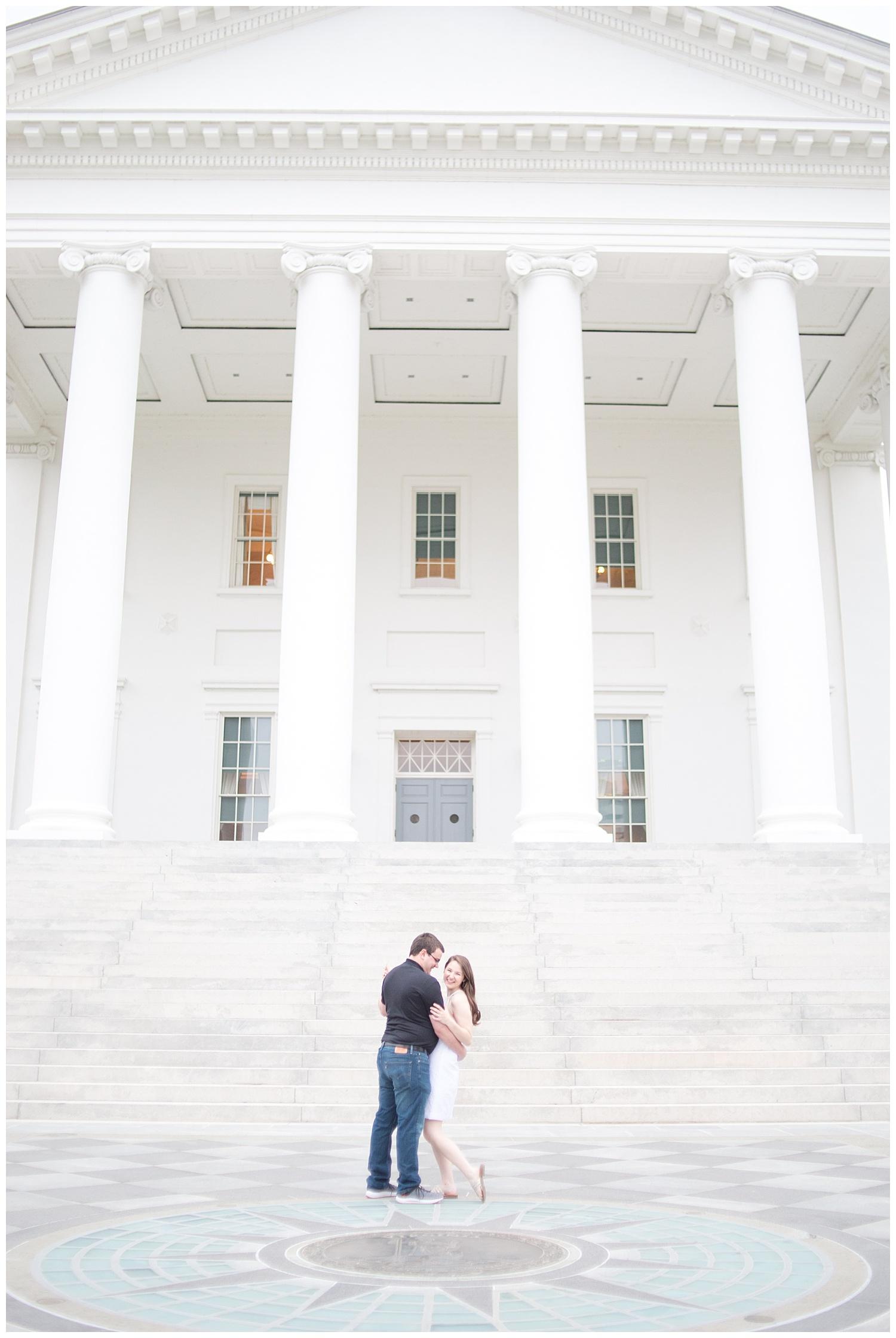 Richmond Wedding Photographer Virginia State Capitol Engagement Photo_0008.jpg
