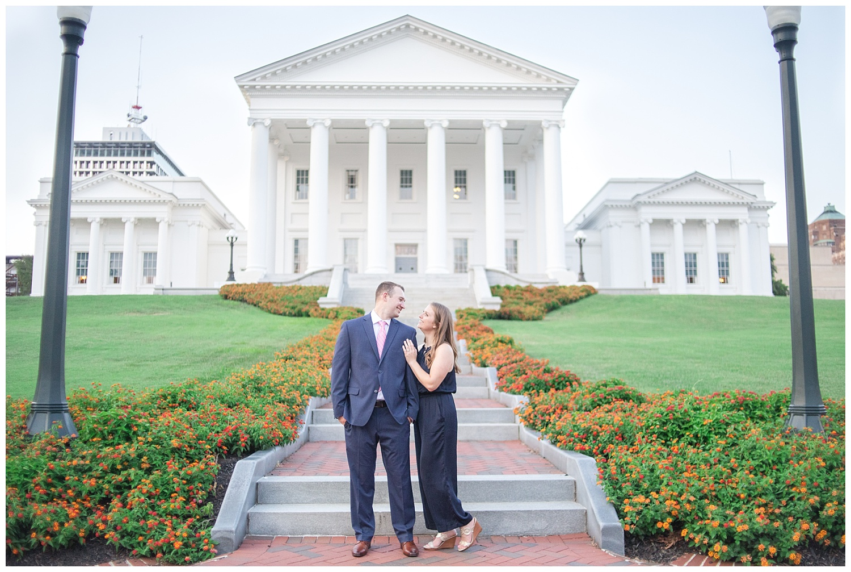 MJMP Richmond Wedding Photographer Summer Virginia State Capitol Engagement Session_0022.jpg