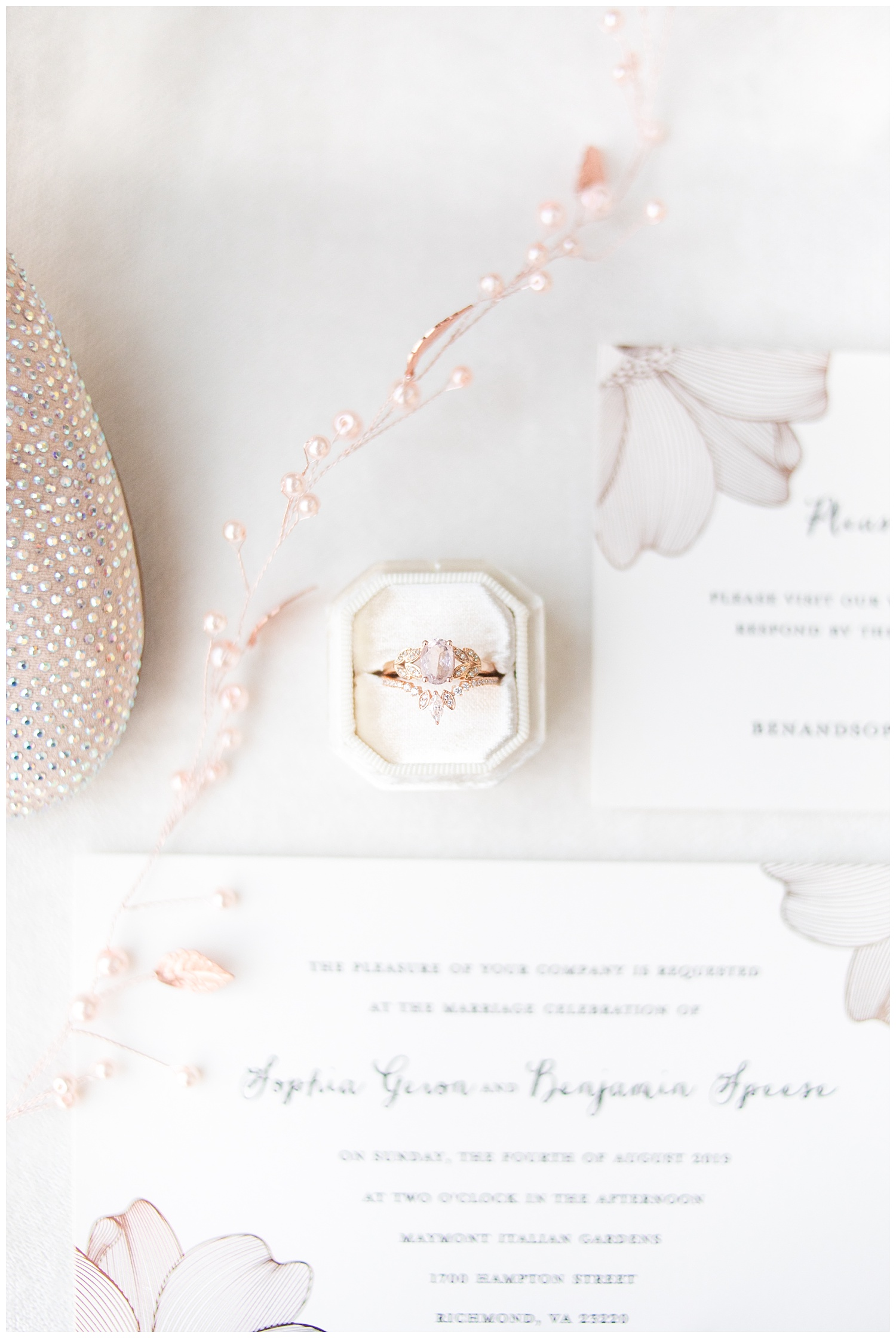 Okay but how gorgeous is Sophia's engagement ring and band?! Easily one of the prettiest rings I've photographed EVER.