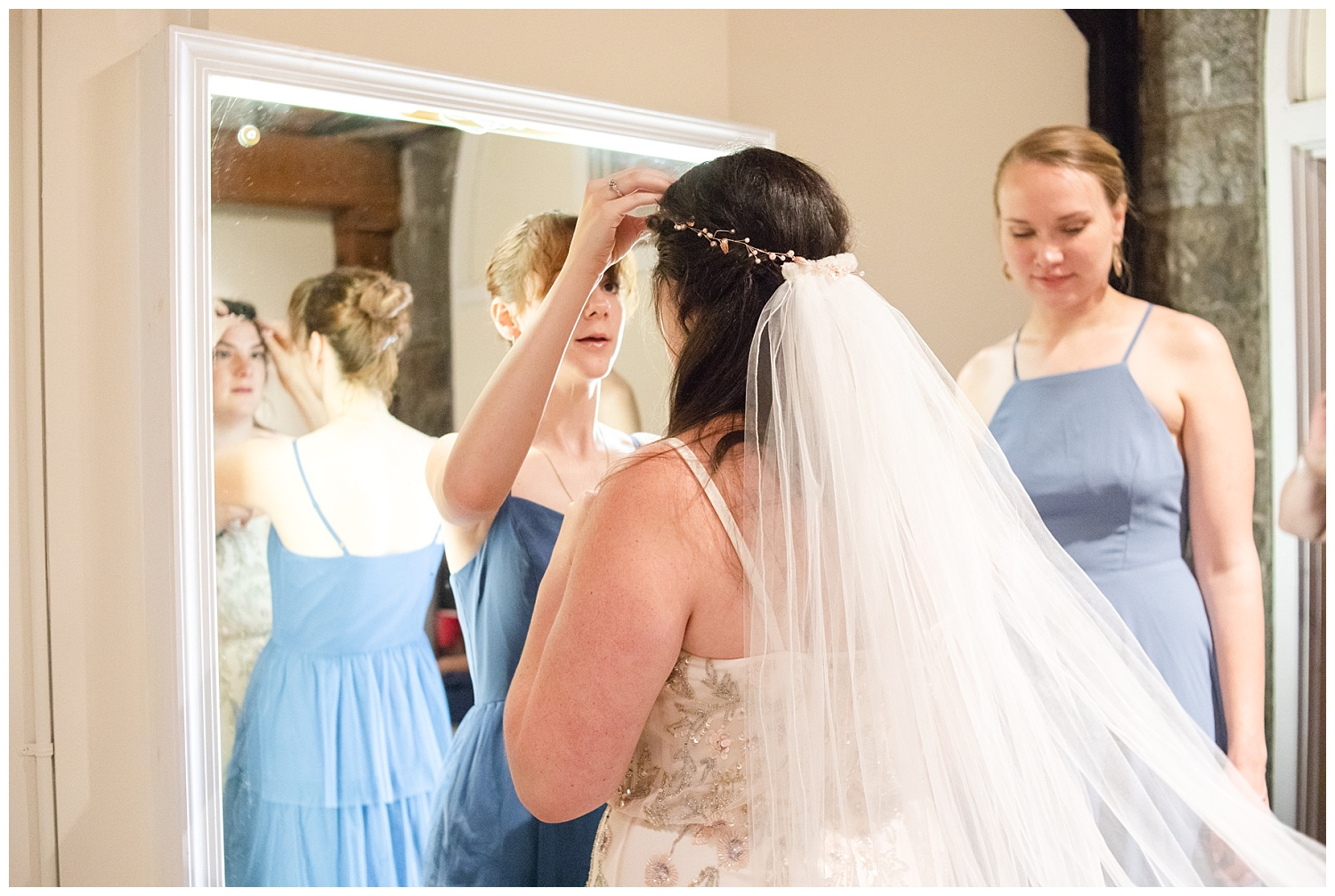 Sophia's veil was just one of the heirlooms she had with her on her wedding day. The same veil that belongs to her sweet Momma.