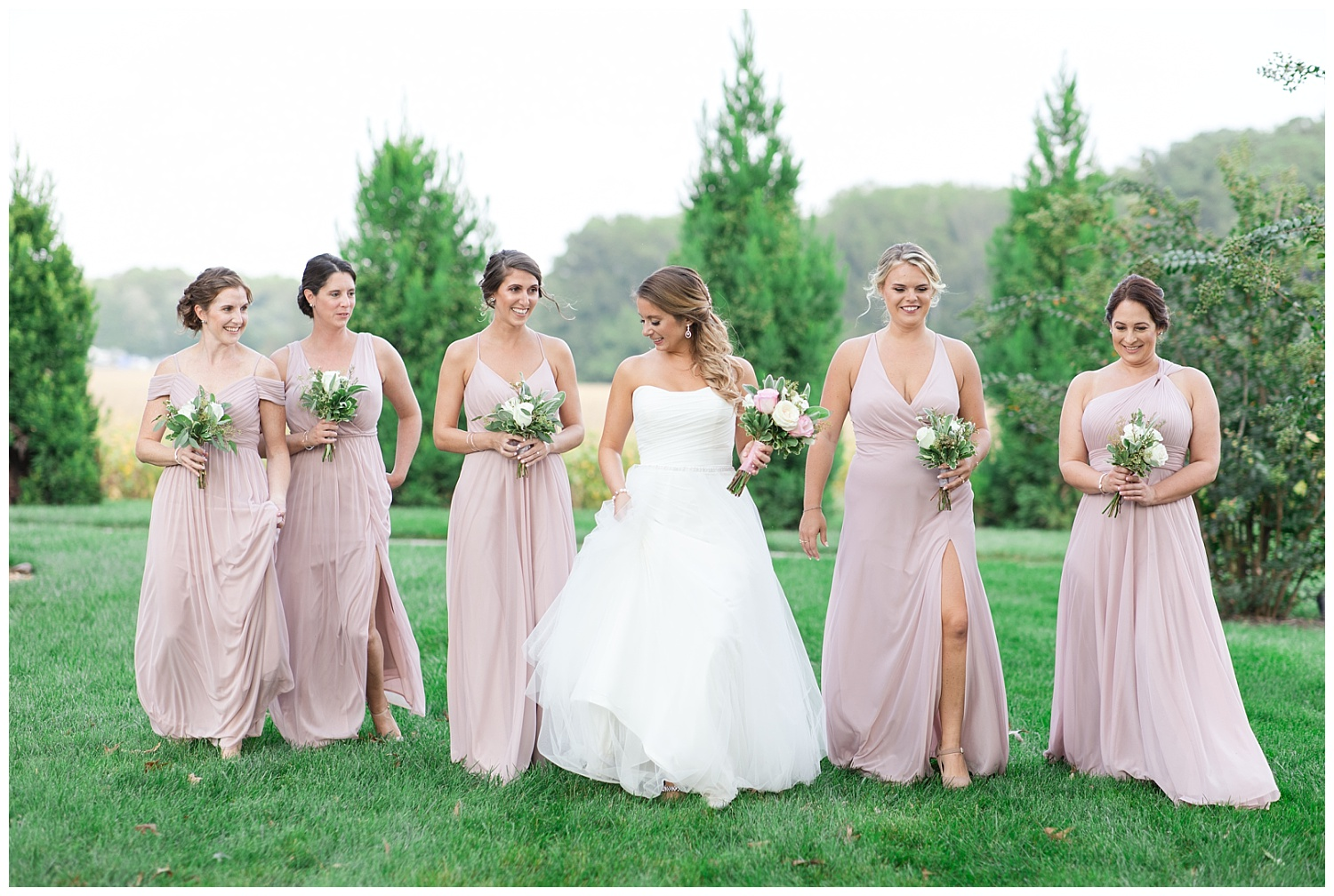 Okay but how gorgeous is this bridal party?!