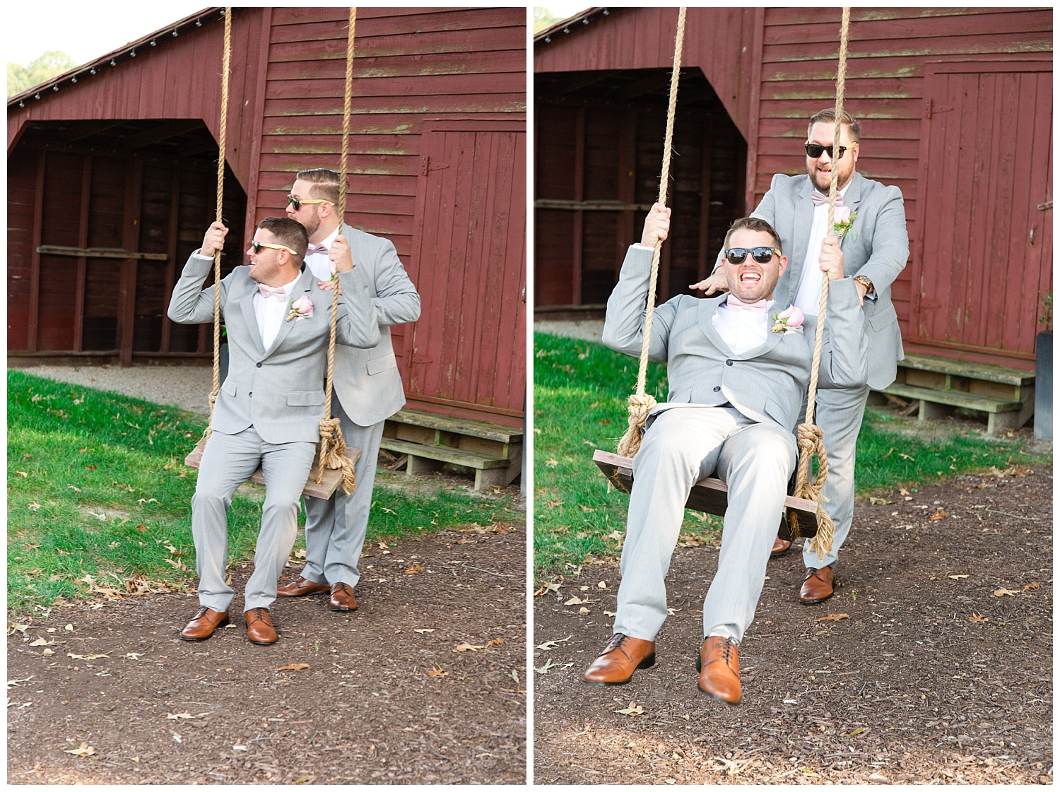 And while the girls are taking their portraits, the guys have fun swinging haha!