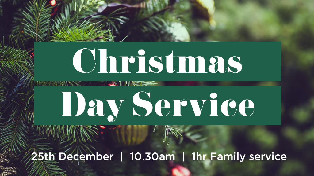 Join us on Christmas Day for a special 1 hr Family service as we celebrate the day Jesus was born!