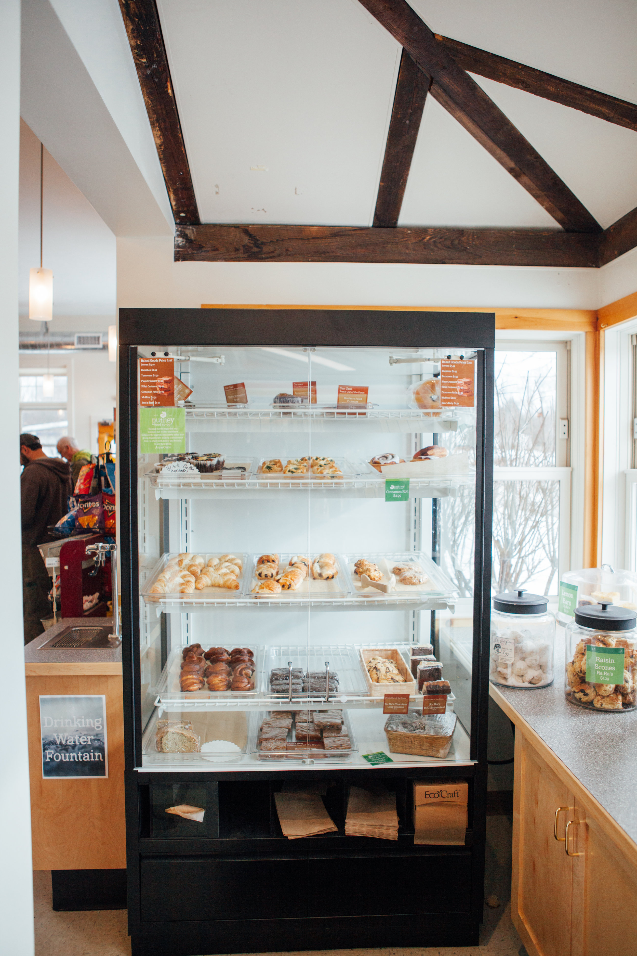 A fully stocked bakery case greets our customers every morning and throughout the day!