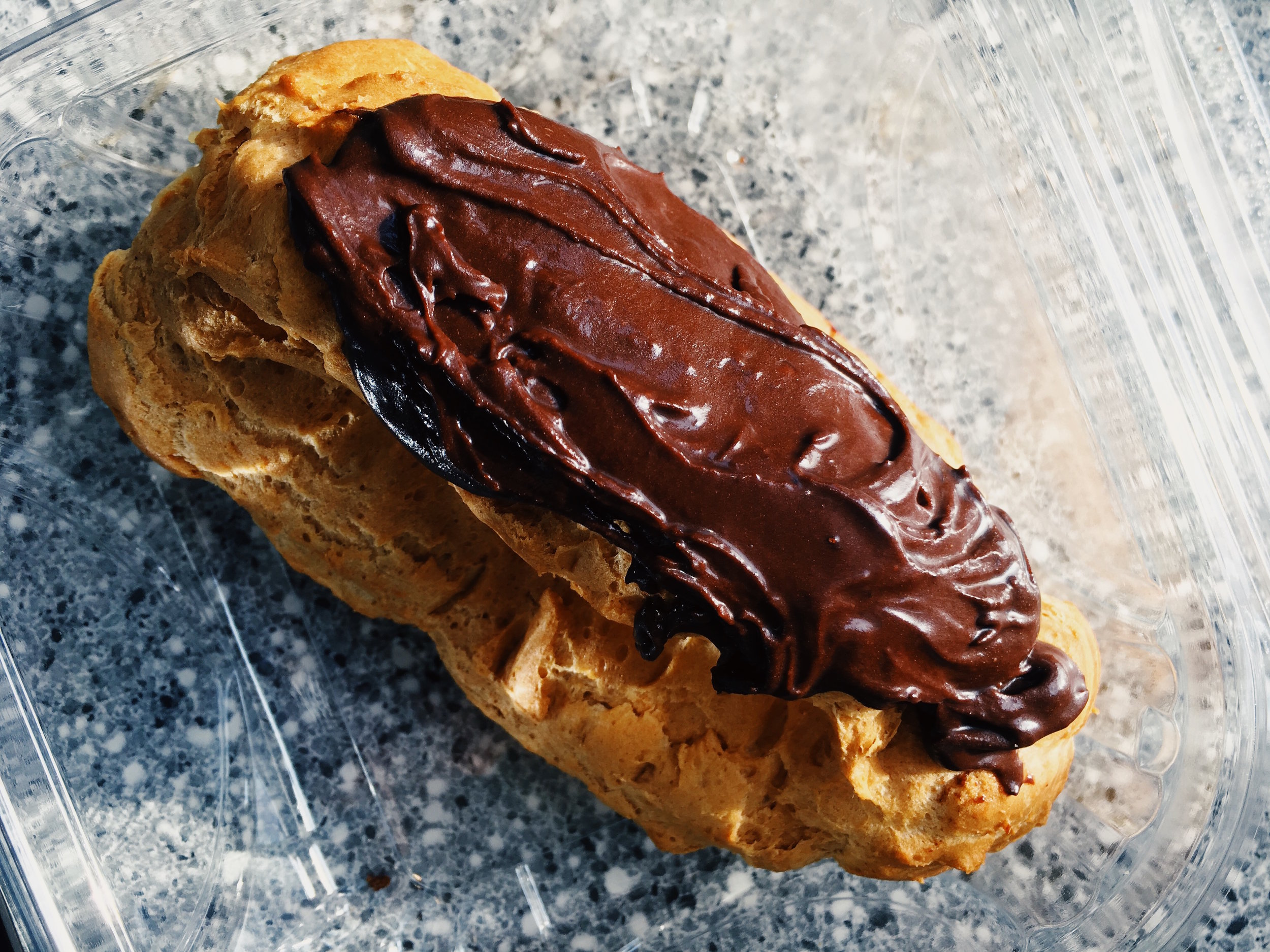 One of Deb's newly famous chocolate eclairs