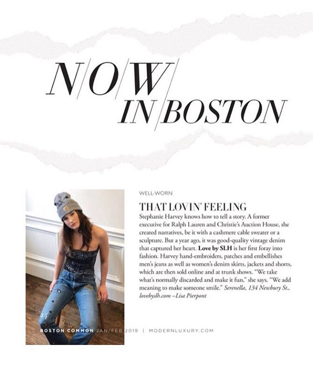 Psyched to be featured in the Jan/Feb issue of @bostoncommag. Thank you Lisa Pierpont for featuring us among some of Boston's finest. xoxo 🖤