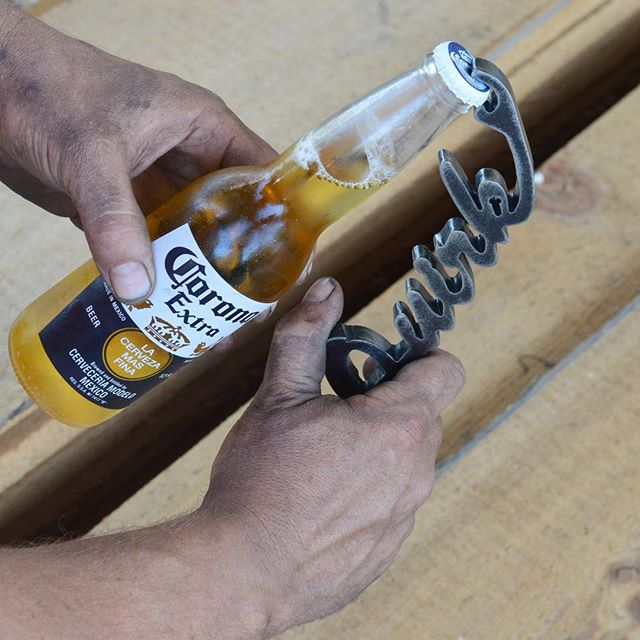 Mild steel super heavy duty bottle openers made for a groomsmen gift 🍻