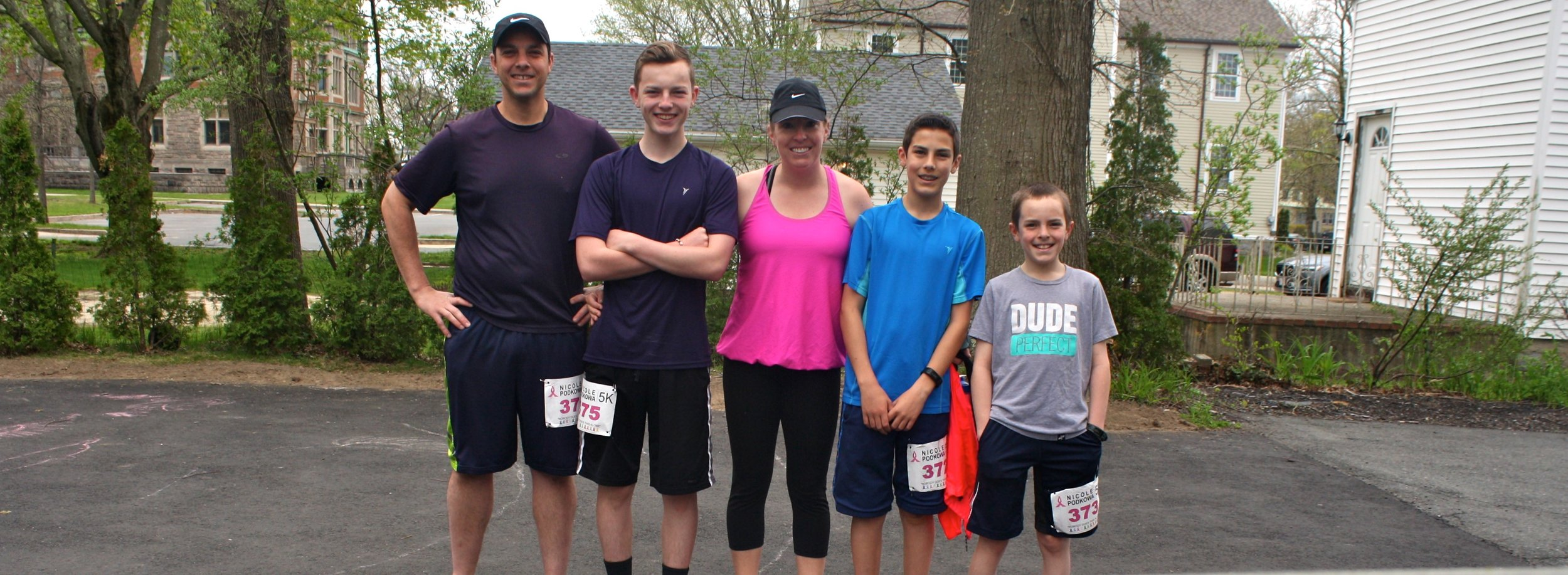 Our most recent family race with my husband and our three oldest runners.
