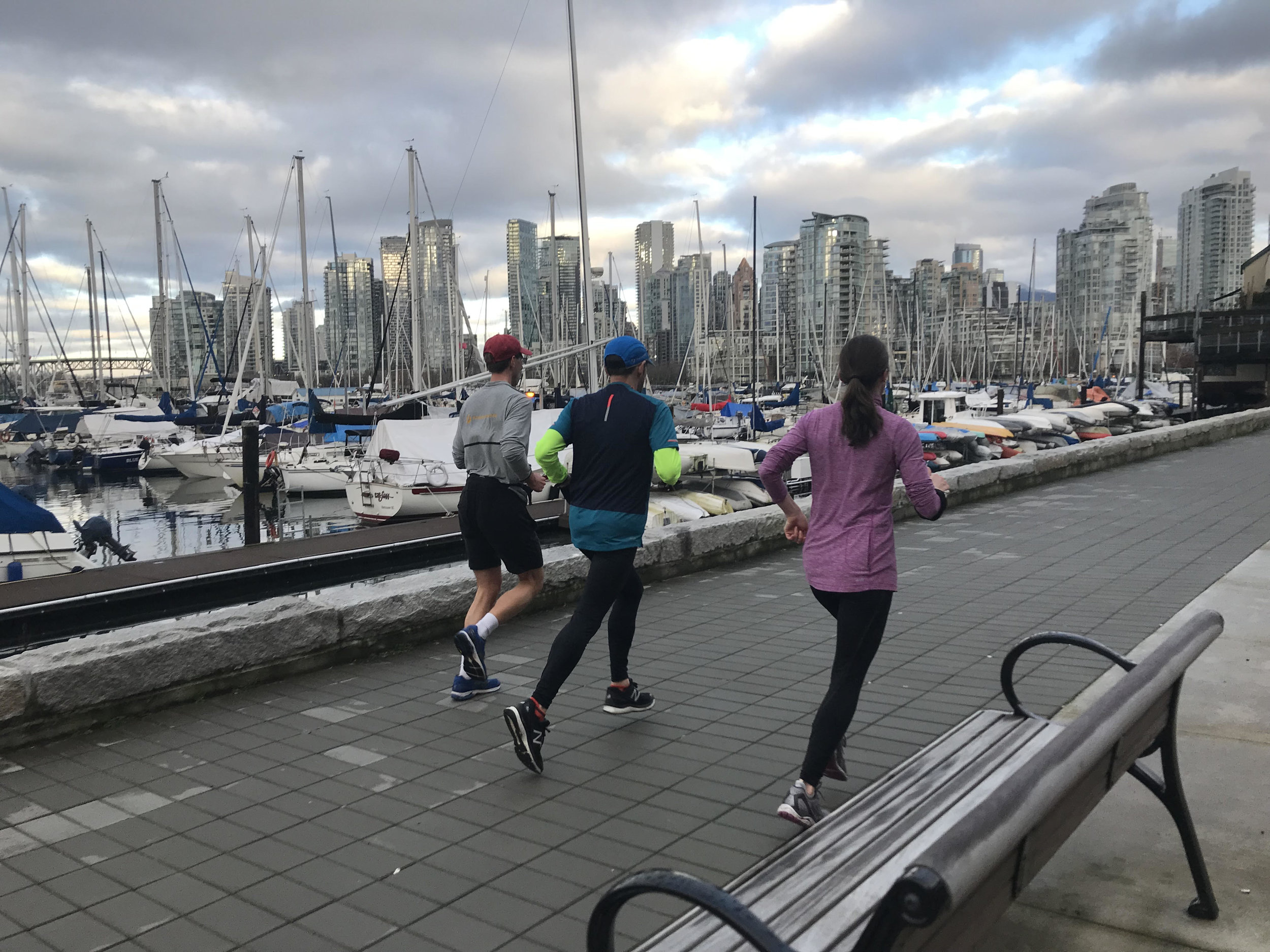 The group I ran with while visiting Vancouver, BC.