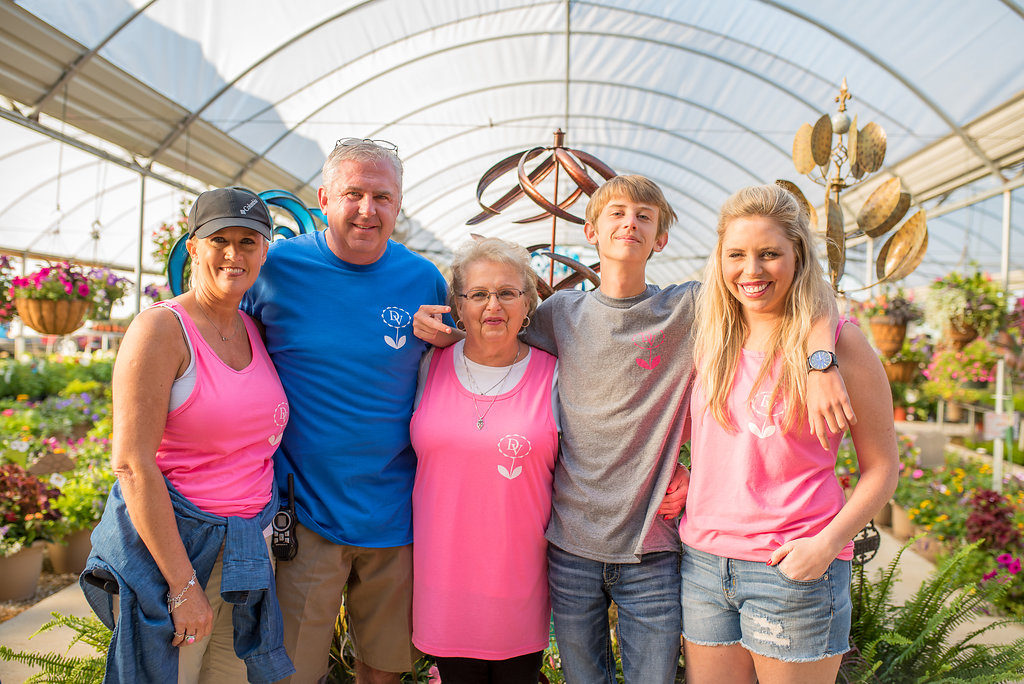 From a veggie stand to a family tradition of quality plants, rooted with love in the small town of Wilson, Oklahoma. Pictured above: Lynch Family at Spring Fling Sale 2017.