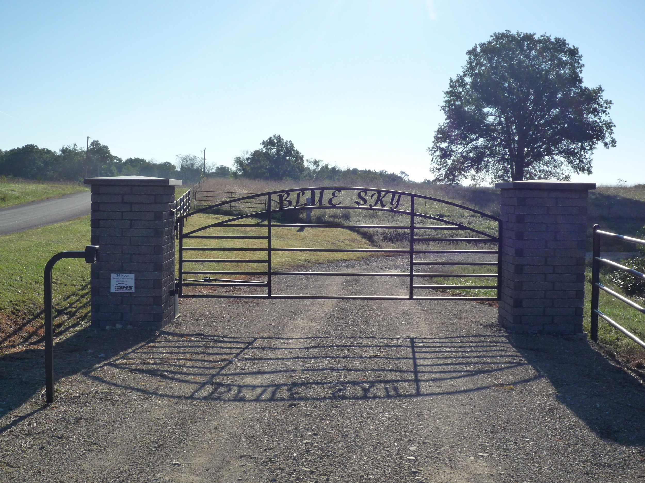 Entry Gate to Blue Sky Ranch