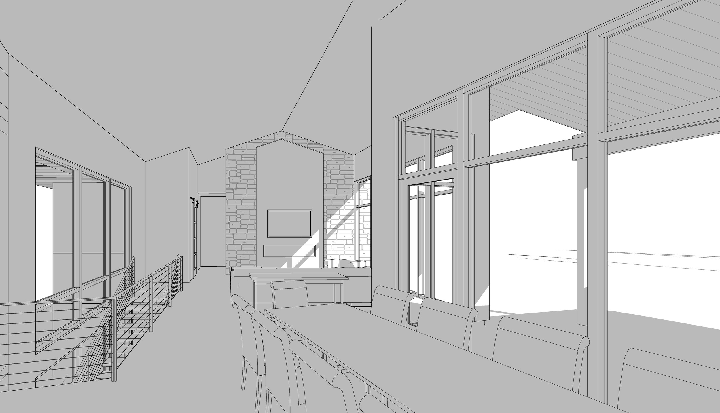 Interior rendered view