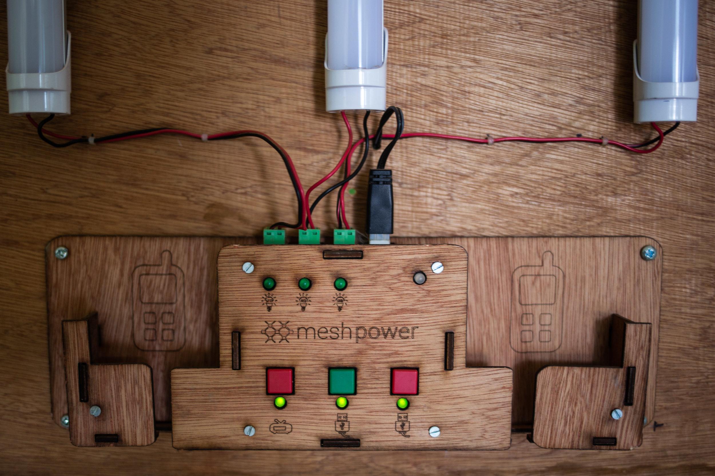 Rwanda's mini-grid developer  MeshPower 's switchboard - Kigali 2018