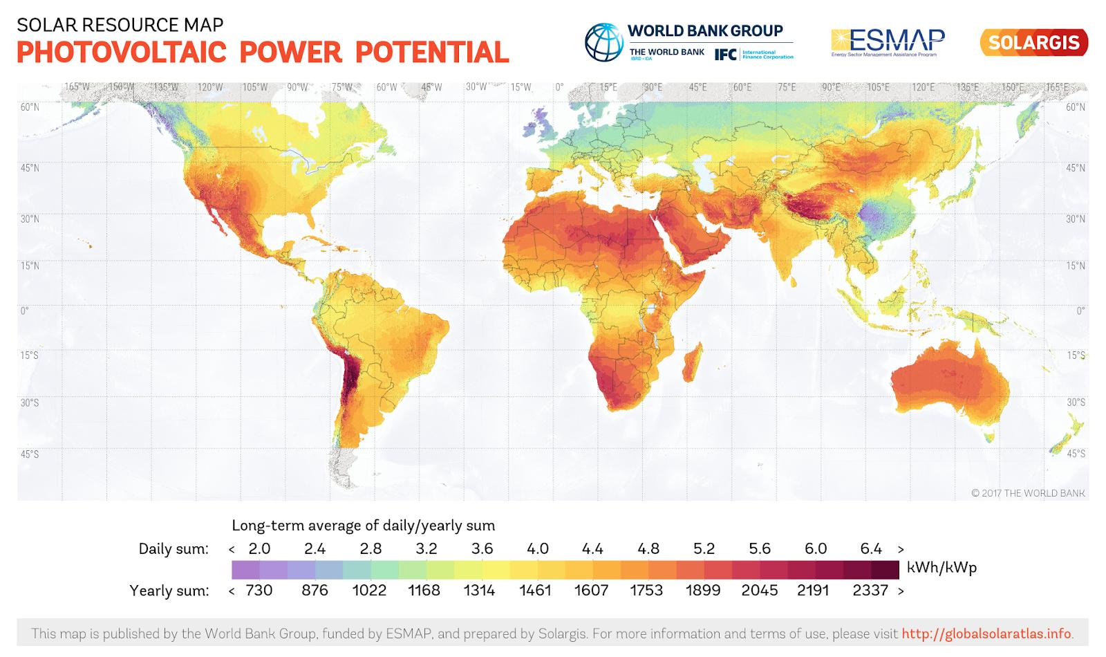 Source:  World Bank Group, ESMMAP, Solargis