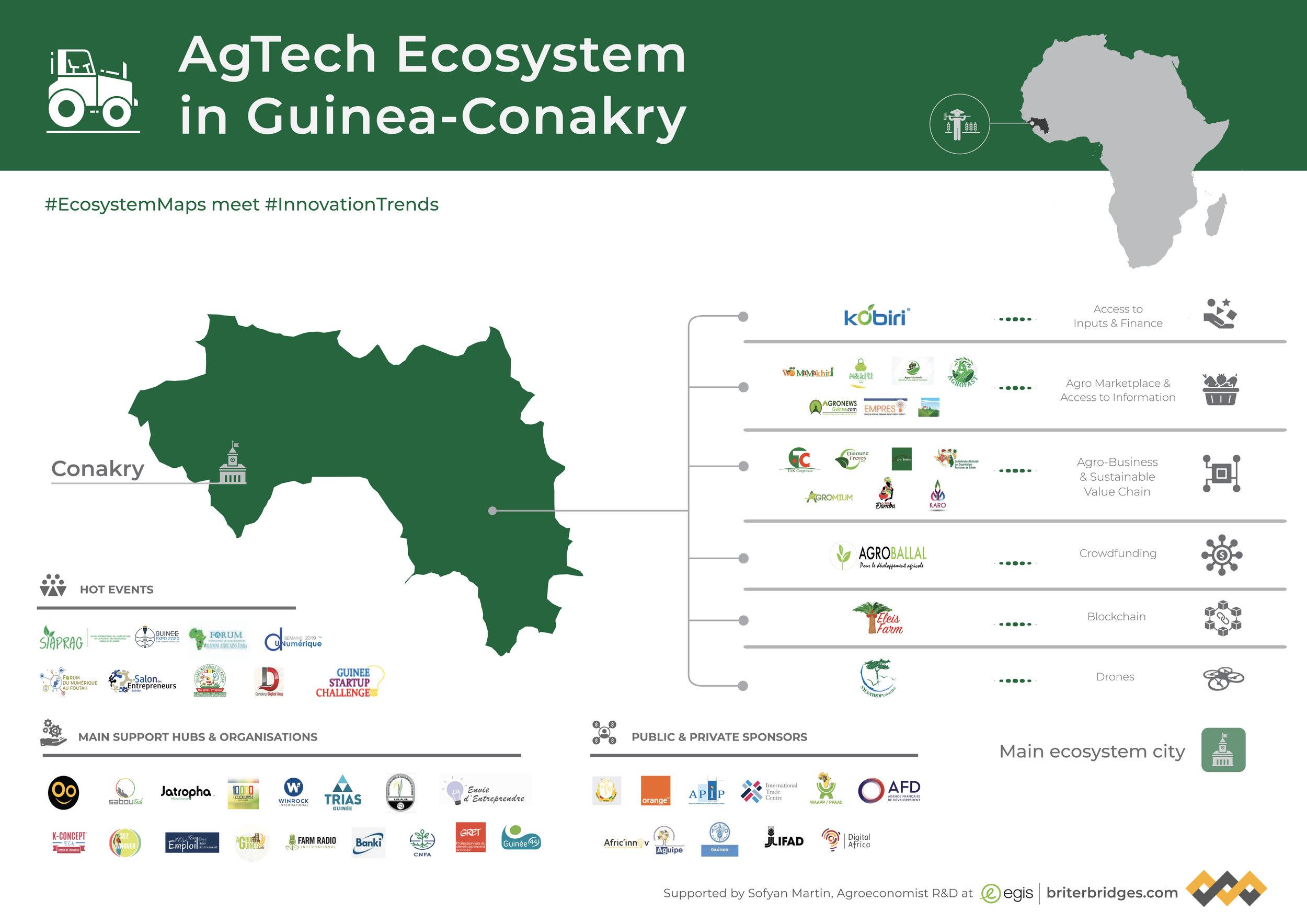 Guinea's AgTech Ecosystem Map