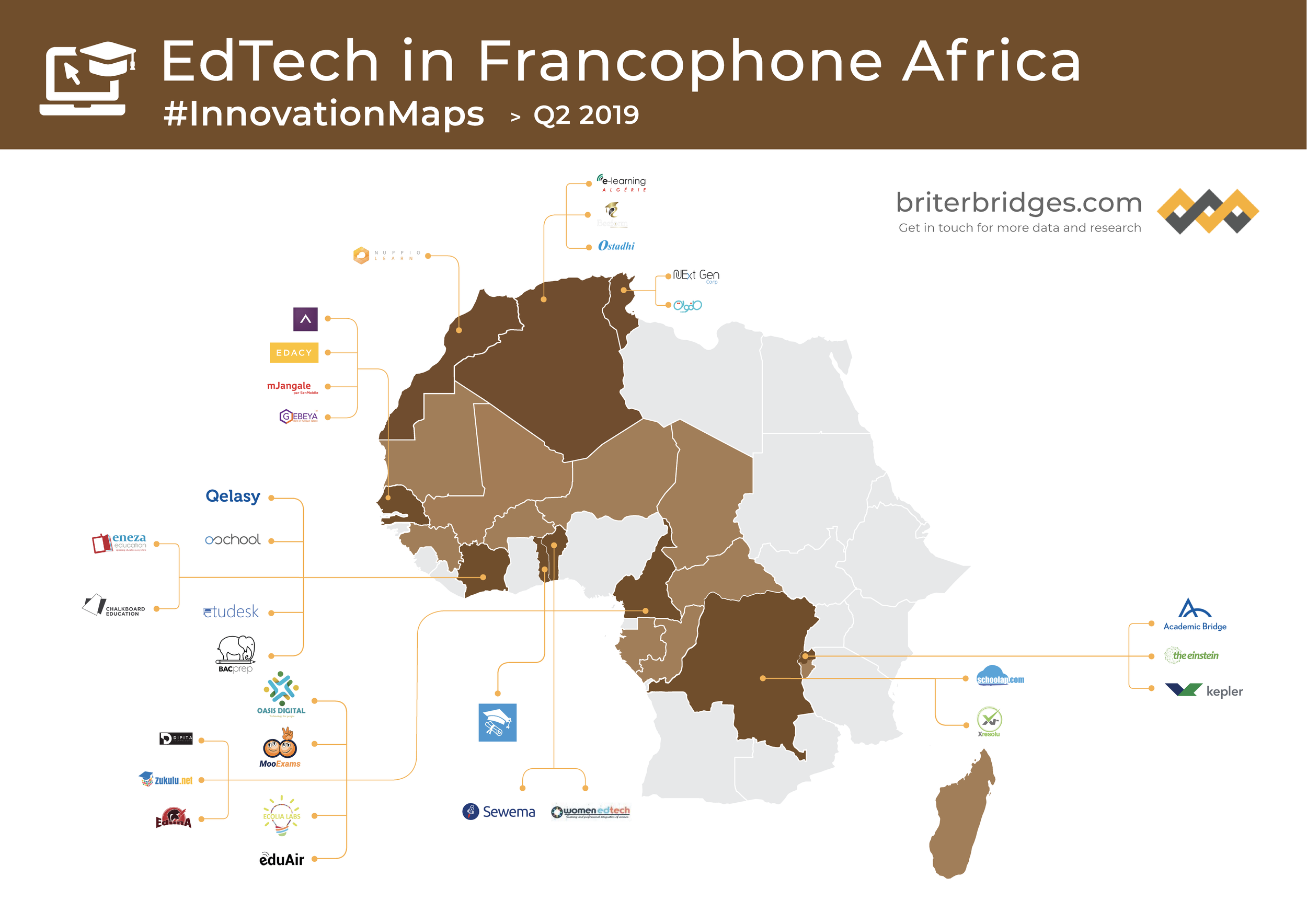 Map Of Francophone Africa.Innovation Maps Briter