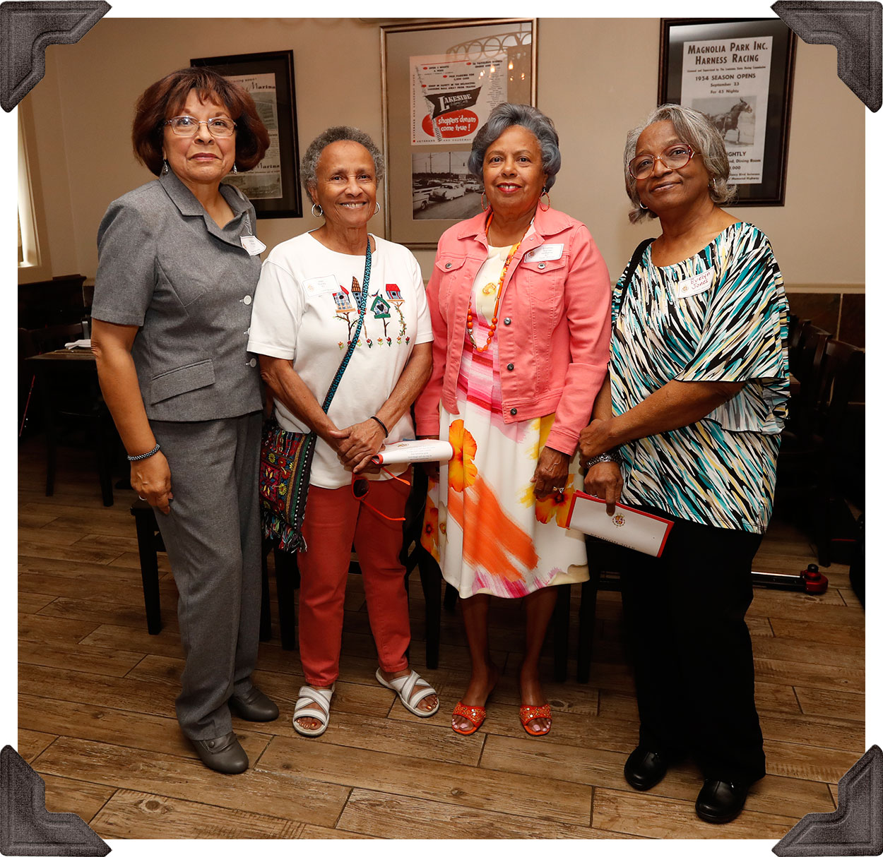Class of '67 - Patrica Morris, Joan Bundy, Emelda Williams and Evelyn Jones