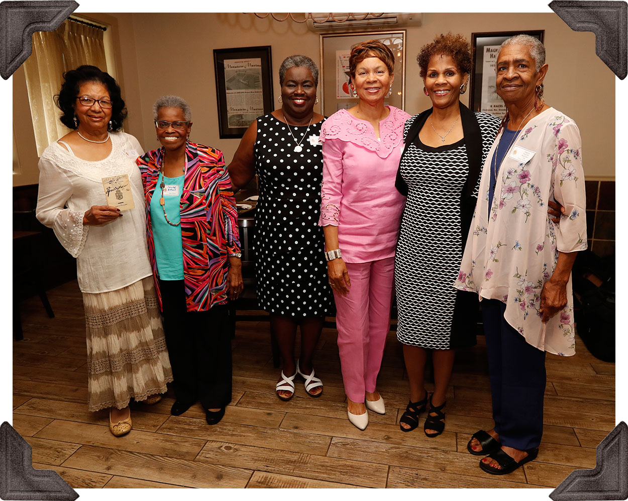 Class of '69 - Dorothy Payton, Carolyn Armant, Paulette Robertson, Shirley Rondendo, Sandra O'Neal and Debra Bodden