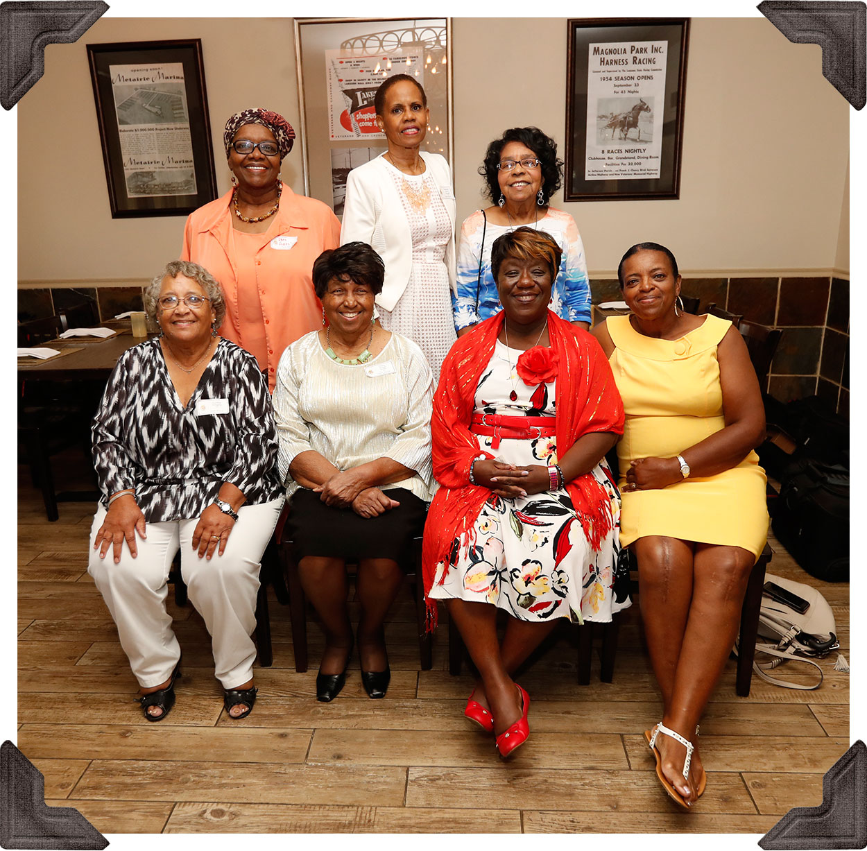 Class of '71 - Standing:  Rhea Dokes, Raphael Morgan and Amelia Waters -- Seated:  Cynthia Wingate, Marie Smith, Sandra Cook and Gwen Ellis-Smith