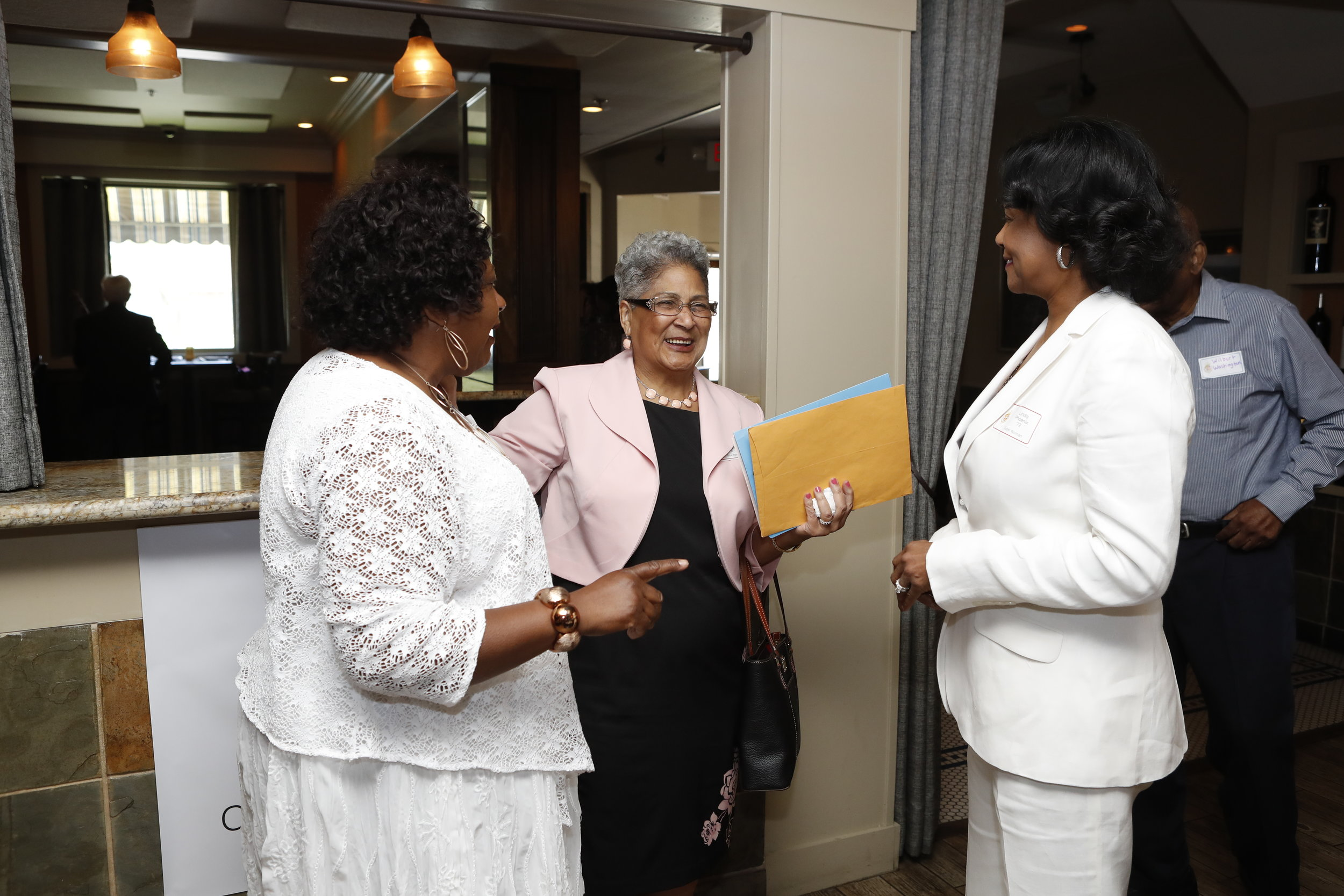Connie Payton-Nevels, Lorraine Washington and Linda Phoenix Teamer