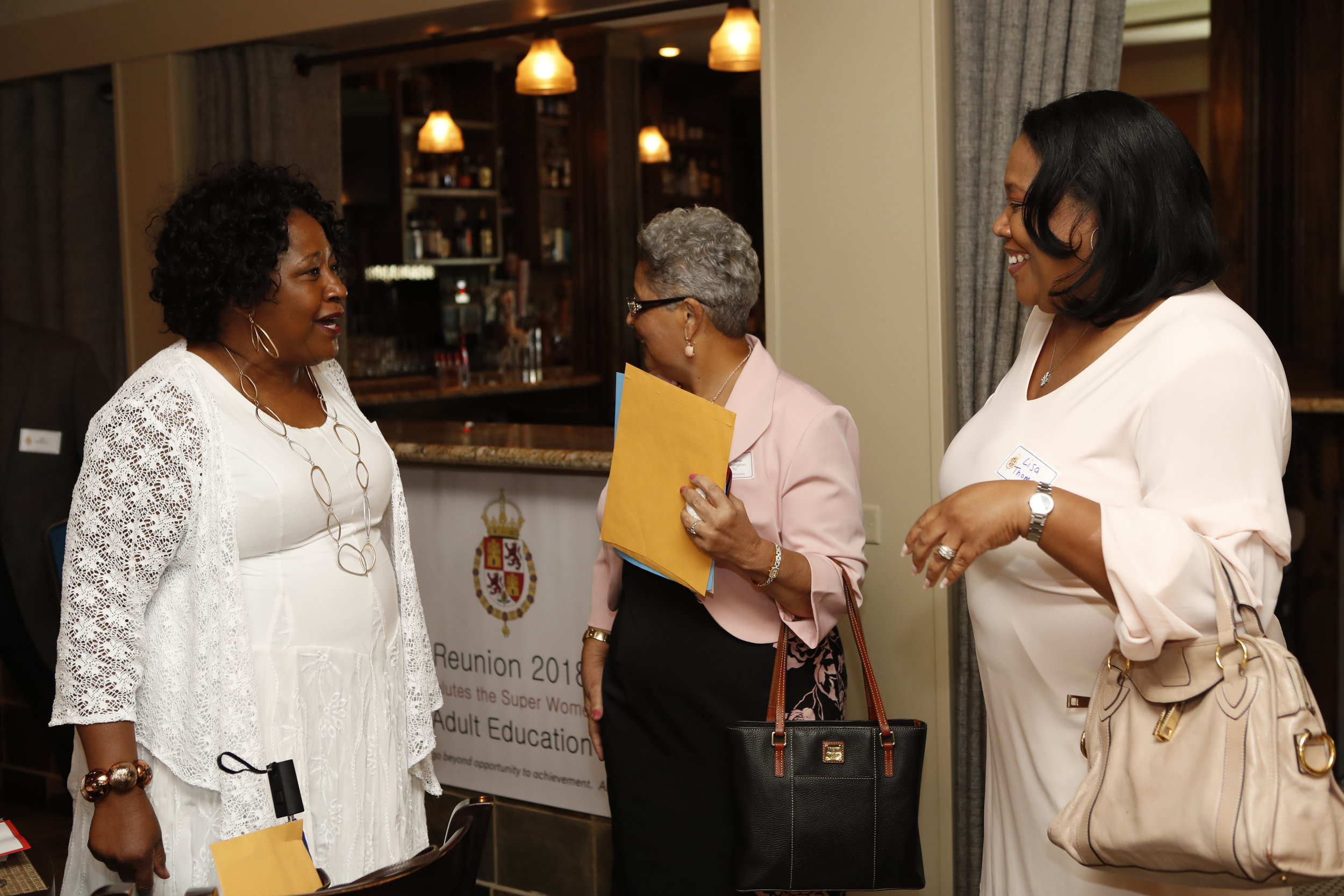 Connie Payton-Nevels, Lorraine Washington and Guest