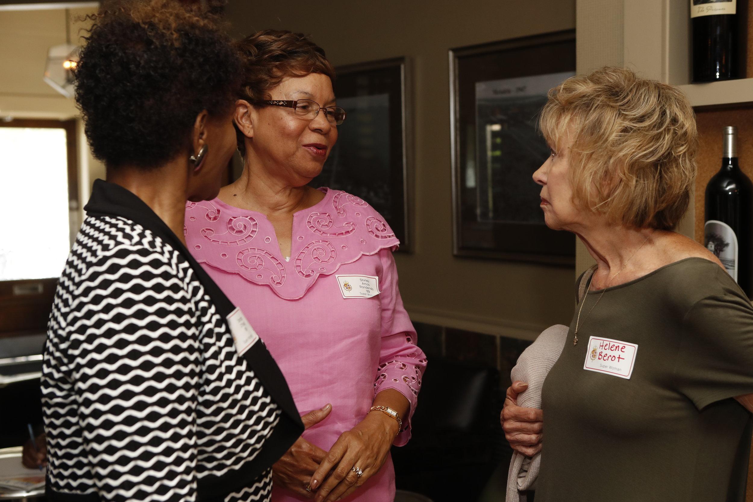 Sandra O'Neal, Shirley Rondendo and Helene Berot