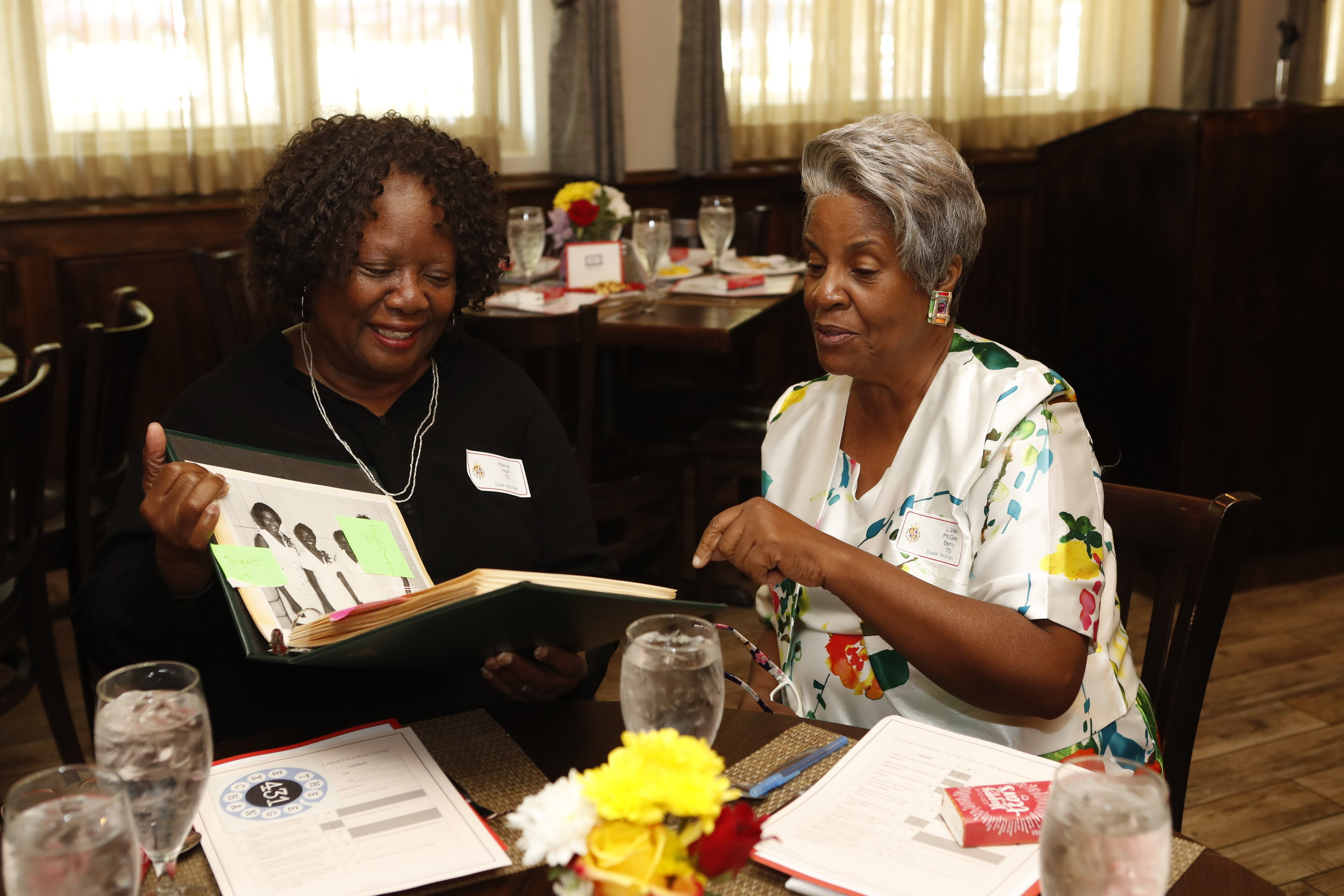 Merial Hall and L.Vee Berry at the 2018 AEC Reunion