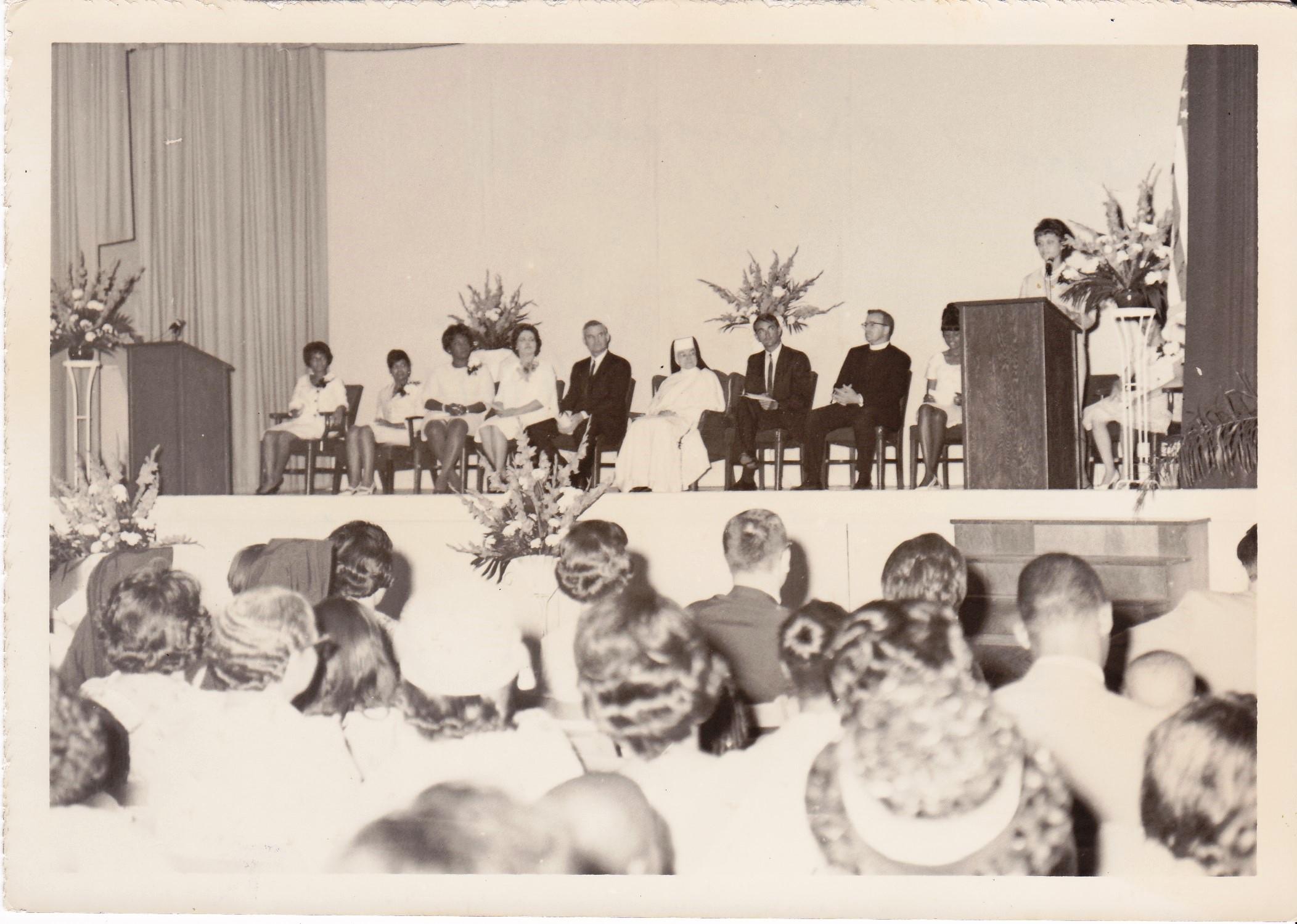 '66 Graduation Participants - Leatrice Frilot at Podium
