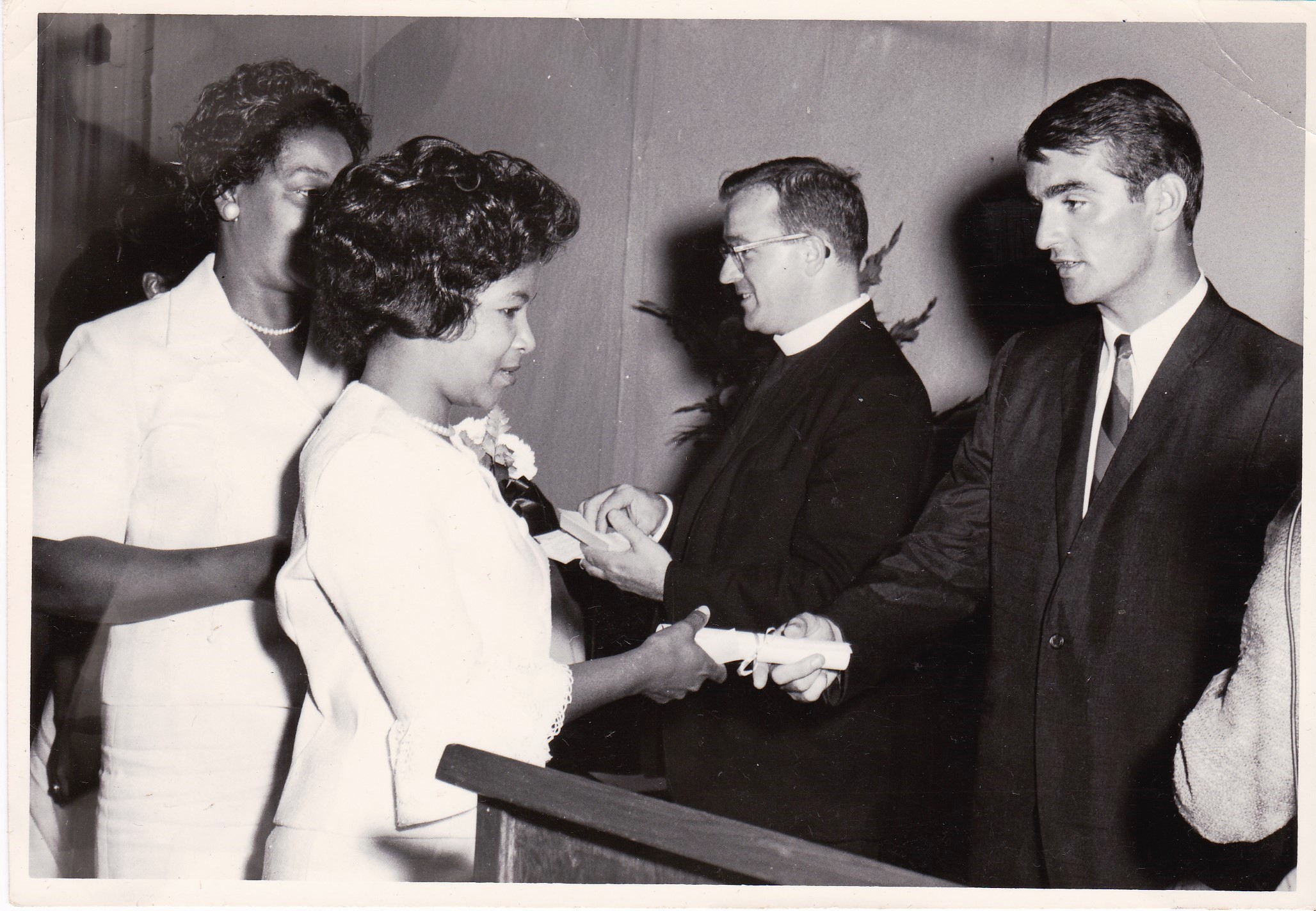 '66 Dolores Robertson, Dolores Thornton, Father Timothy Gibbons, John Whalen