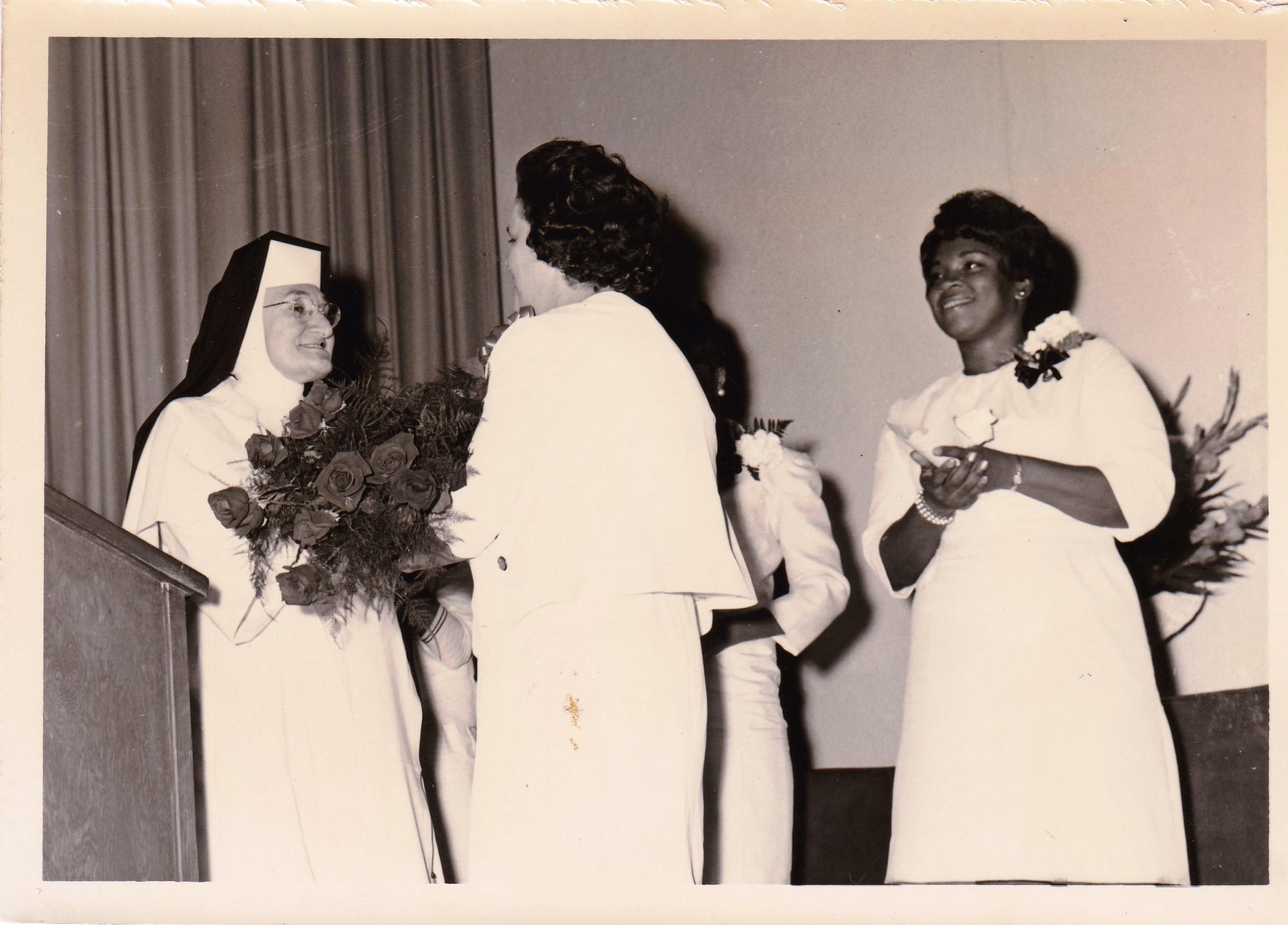 '66 Sr. Louise Lemoine OP, Alice Geoffray and Gohn Johnson