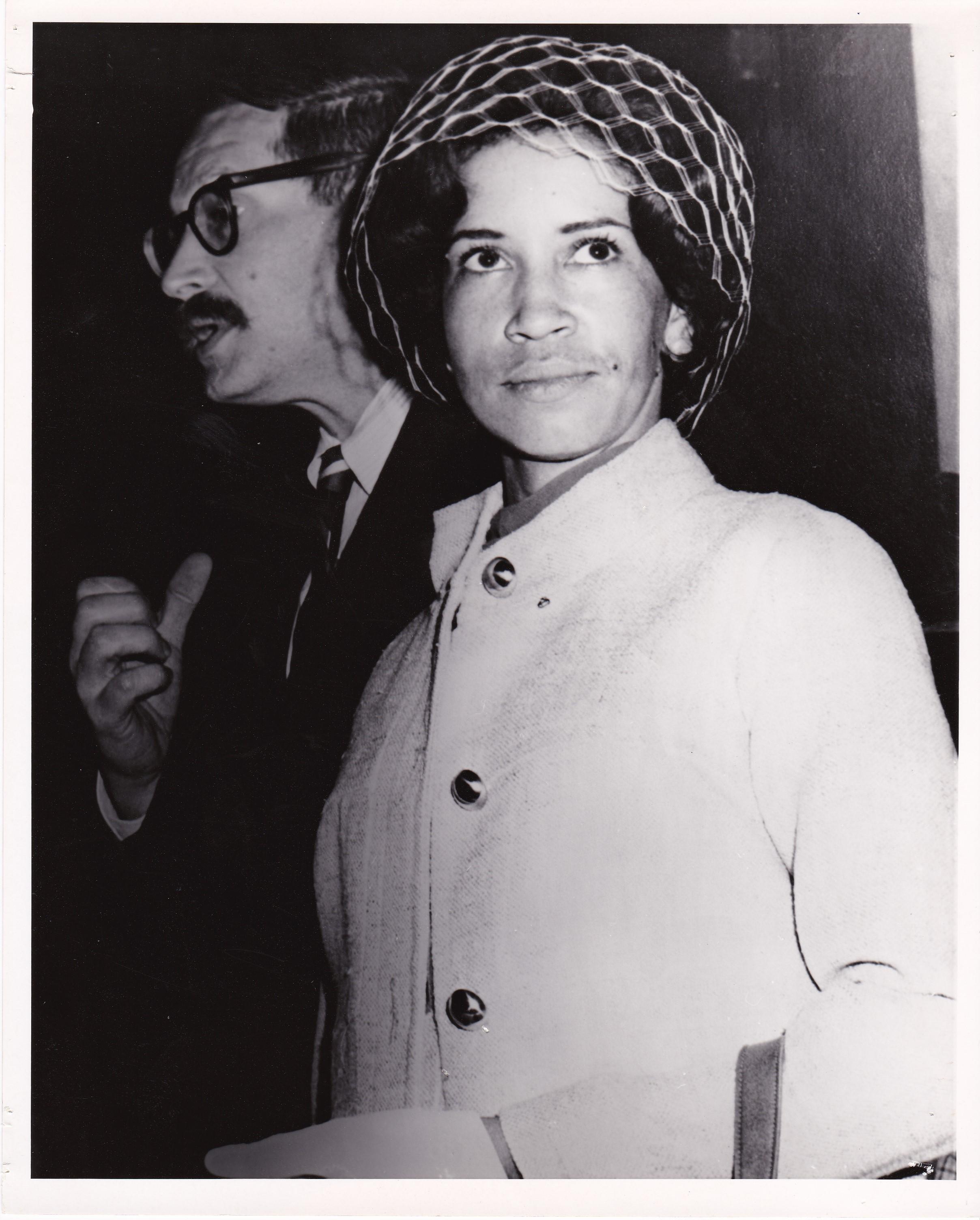 Senate Subcommittee Hearing in 1968, Stephen Ebbins and Thyra Johnson '66