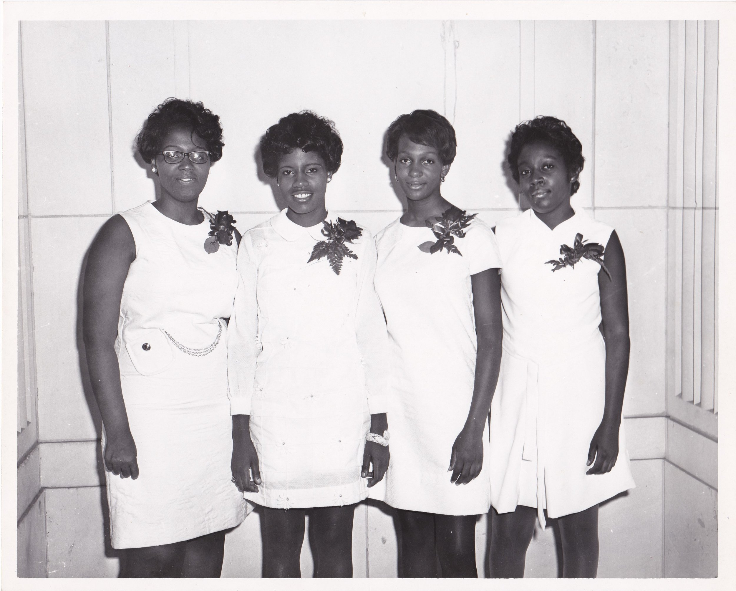 '70 Rose Franklin, L. Vee McGee, Brenda Chapman and Sheila Green