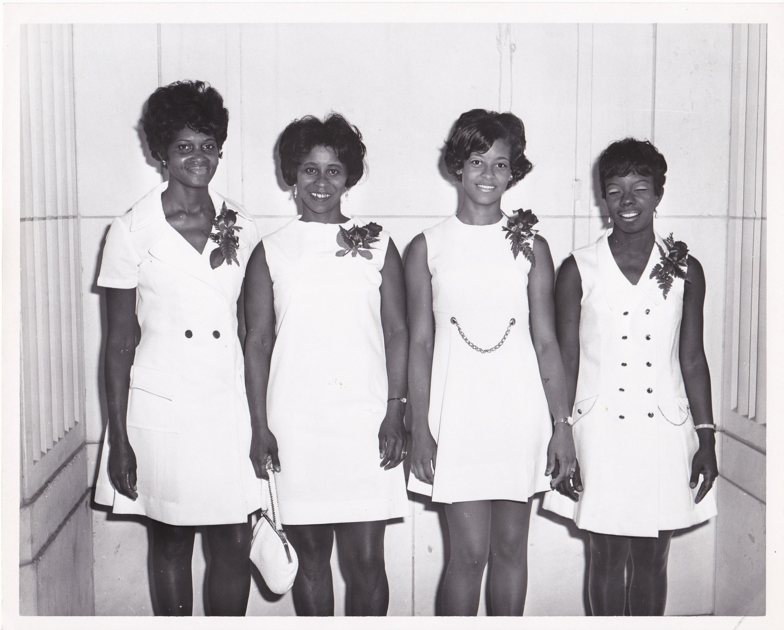 '70 Geraldine Smith, Shirley Jefferson, Joyce Bryant, and Janell Charles