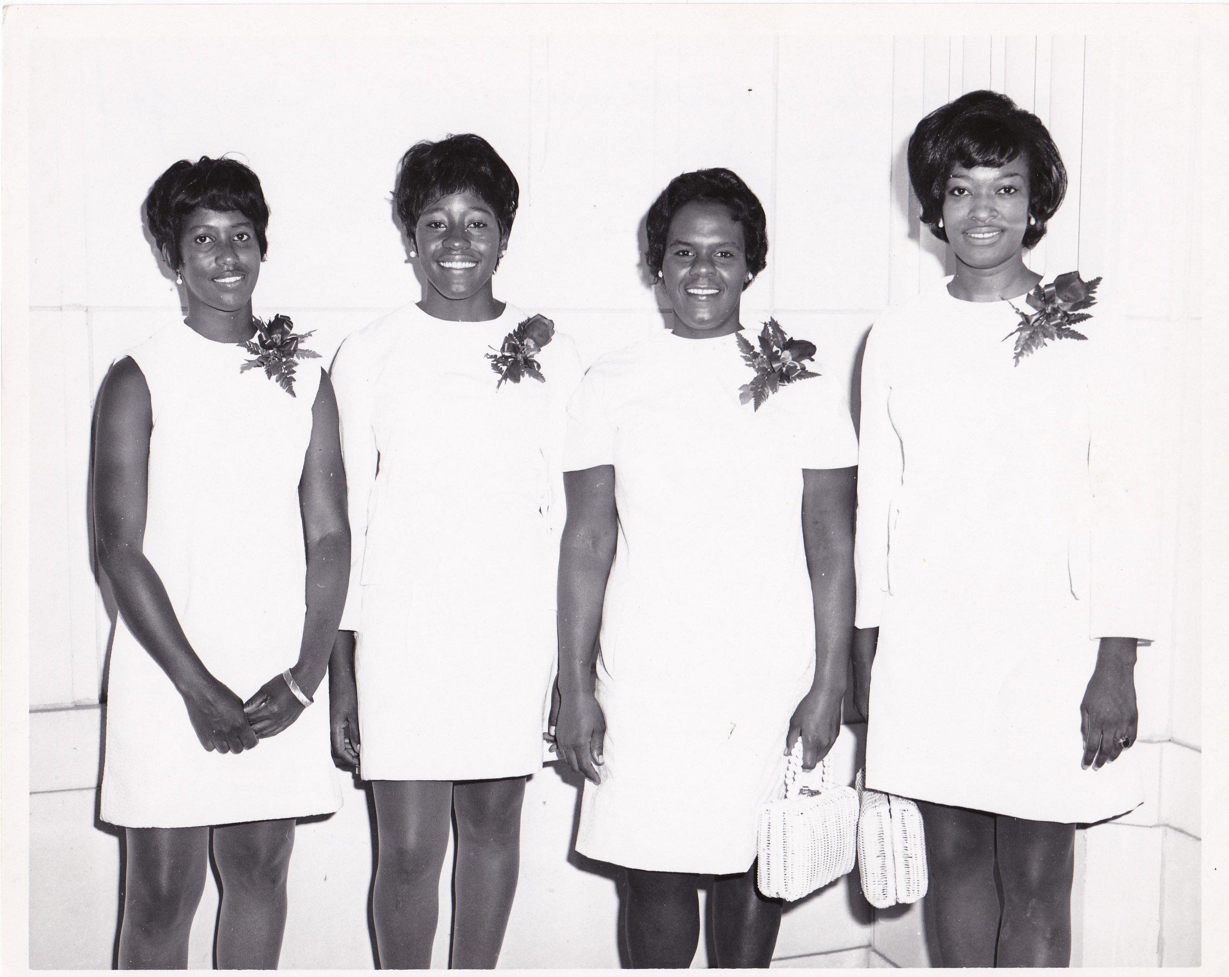 '70 Brenda Wilson, Connie Payton, Marilyn Joseph, Deloris Barrow