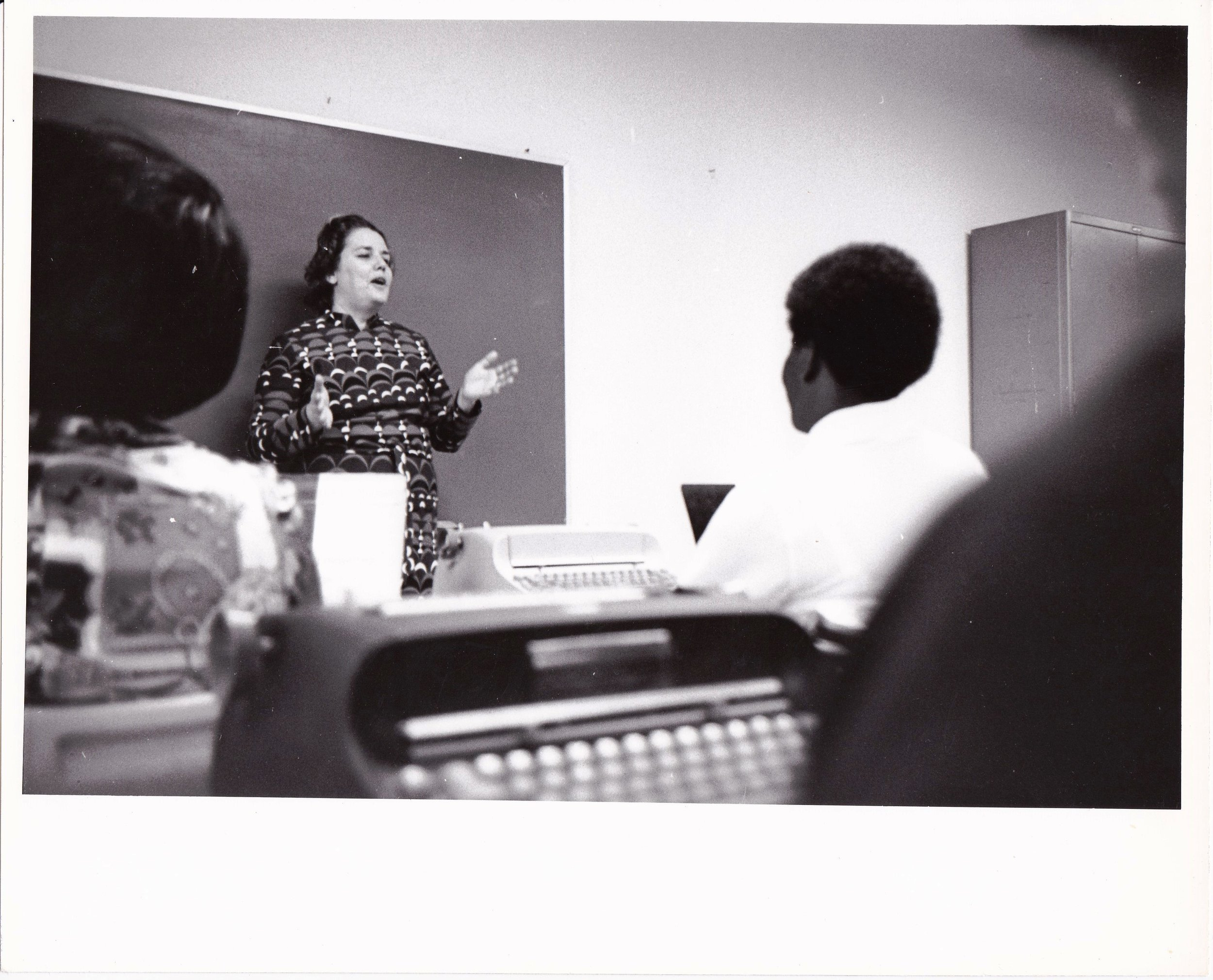 '72 Alice Geoffray Teaching Class
