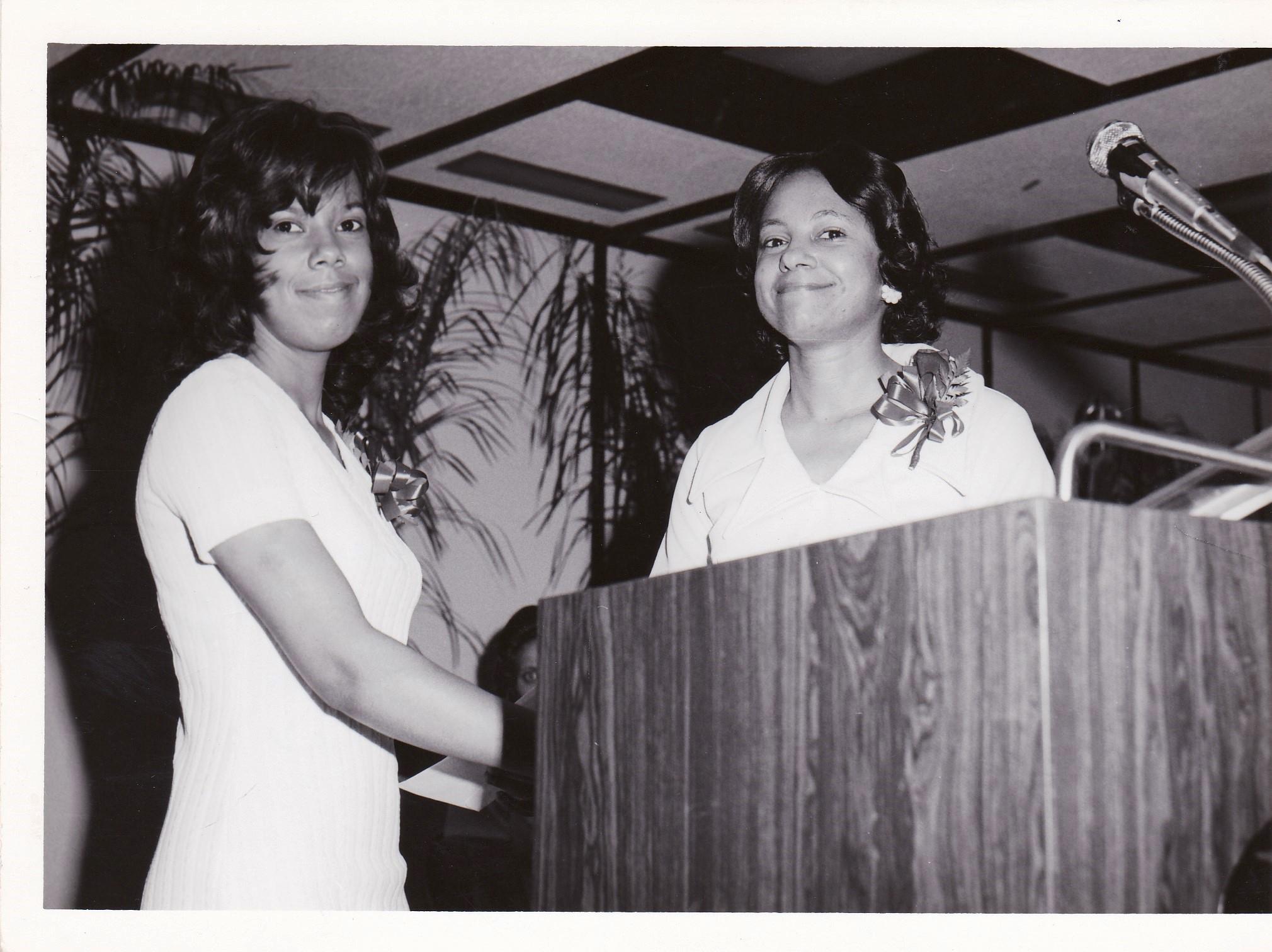 '72 Angelina Sylve '72 with Inez Villavaso '68