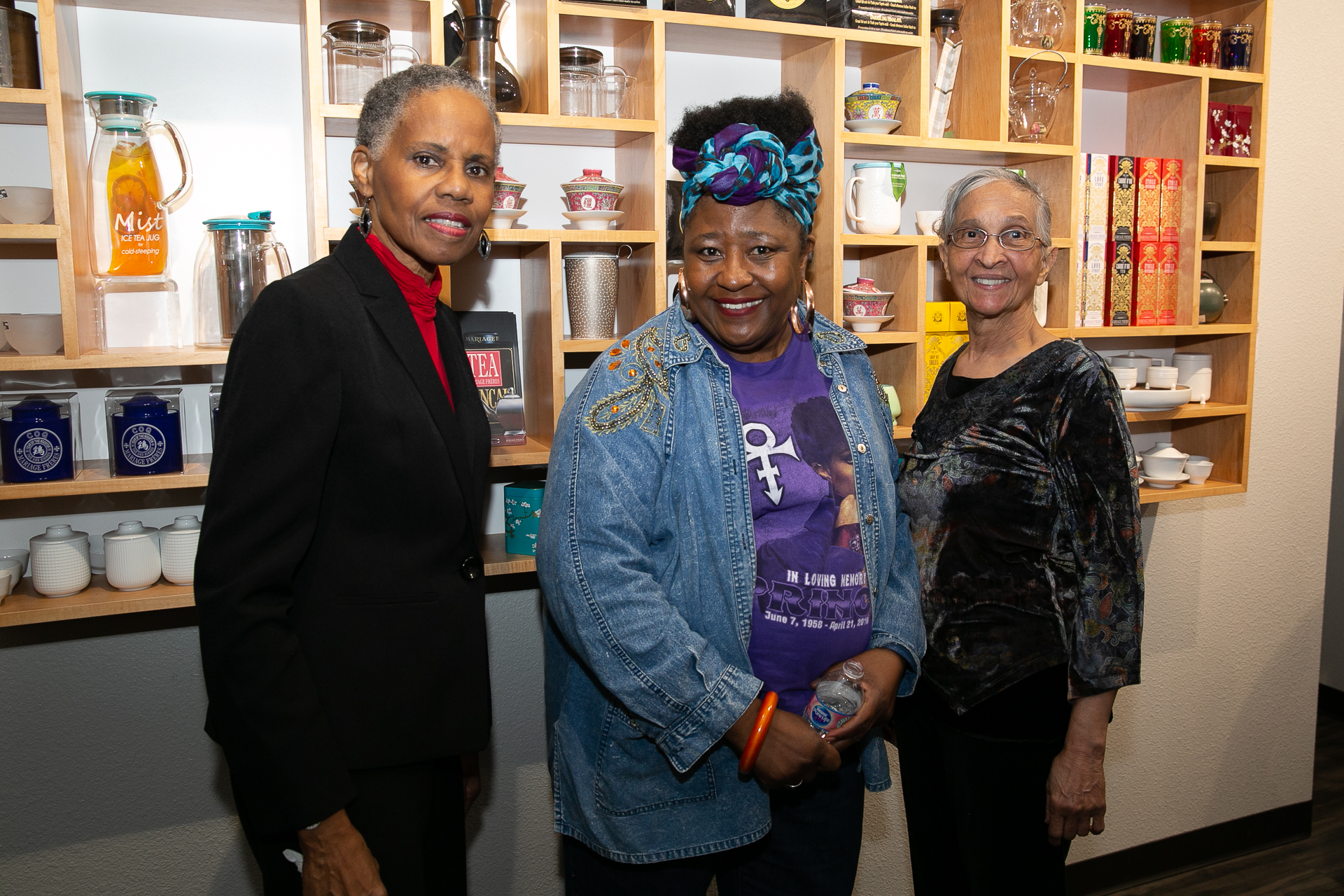 Raphael Morgan '71, Connie Payton-Nevels '70 and Joy Barbarin '68
