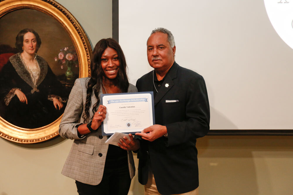 Sheriff Marlin Gusman presents Scholarship to Cassidy Valentine
