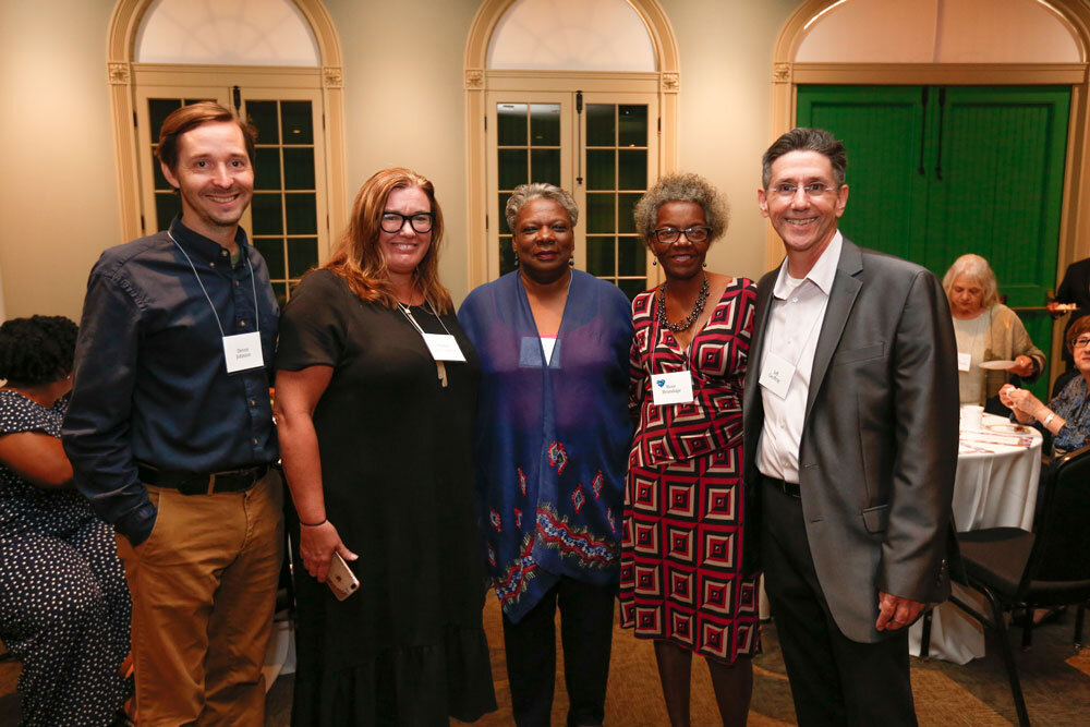 (L-R) Devin Johnson, Heather Harper Cazayoux, Leona Tate, Rose Brundage (Scholarship Winner), and Jeff Geoffray