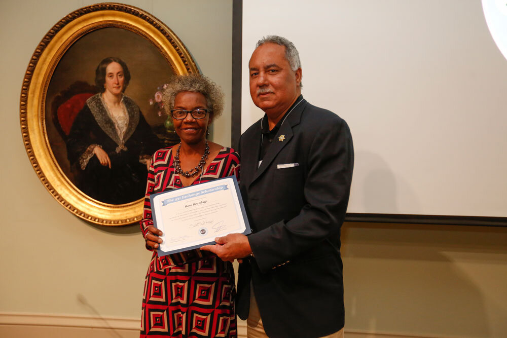 Sheriff Marlin Gusman presents Scholarship to Rose Brundage