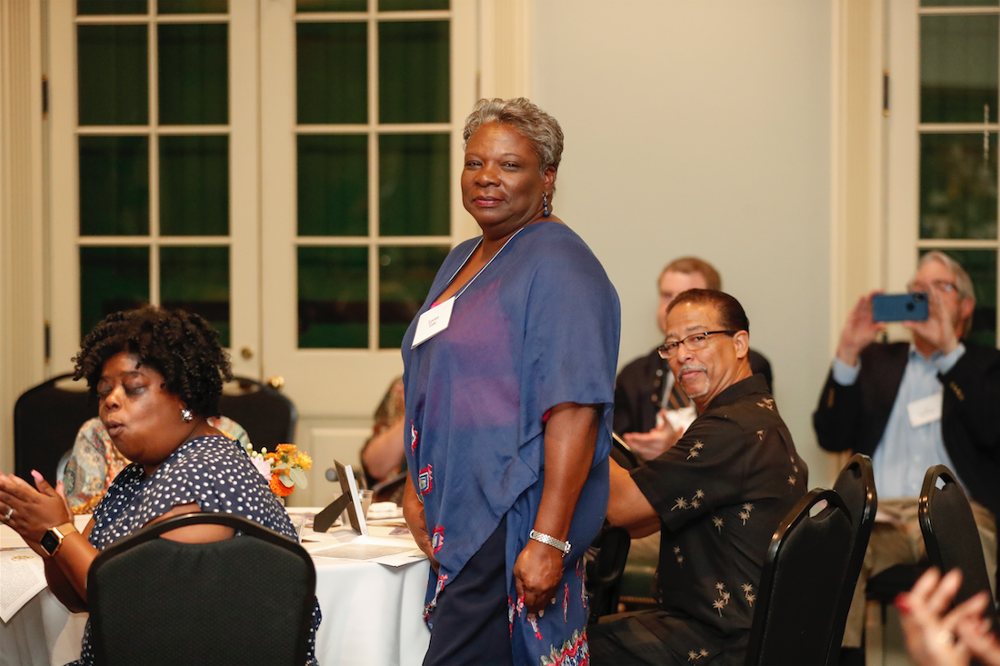 Leona Tate at the 2019 Reunion of the Adult Education Center