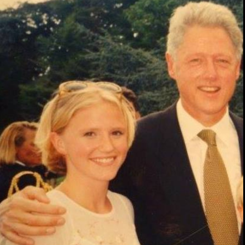 Nissa & Bill Clinton - circa 1997 No photoshop here. Real pic from family newsletter where Britta found out Nissa and the reset of the family had met the President (and forgot to invite her).