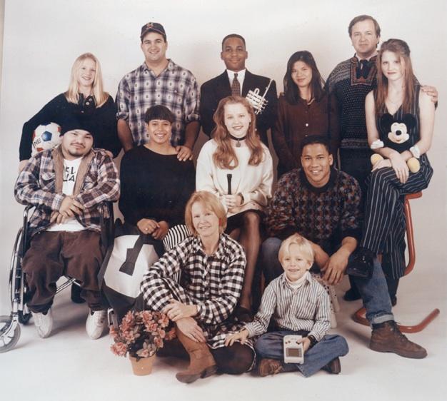 Last picture of all 12 of us before Christian was deported ~ circa 1993 Top row: Nissa, Jens, Tage, Kari, Dad 2nd row: Christian, Siri, Anika, Peik, Britta Bottom row: Mom, Tryg