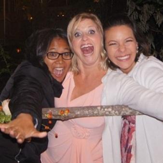 Siri, Britta, Emi (Peik's wife)