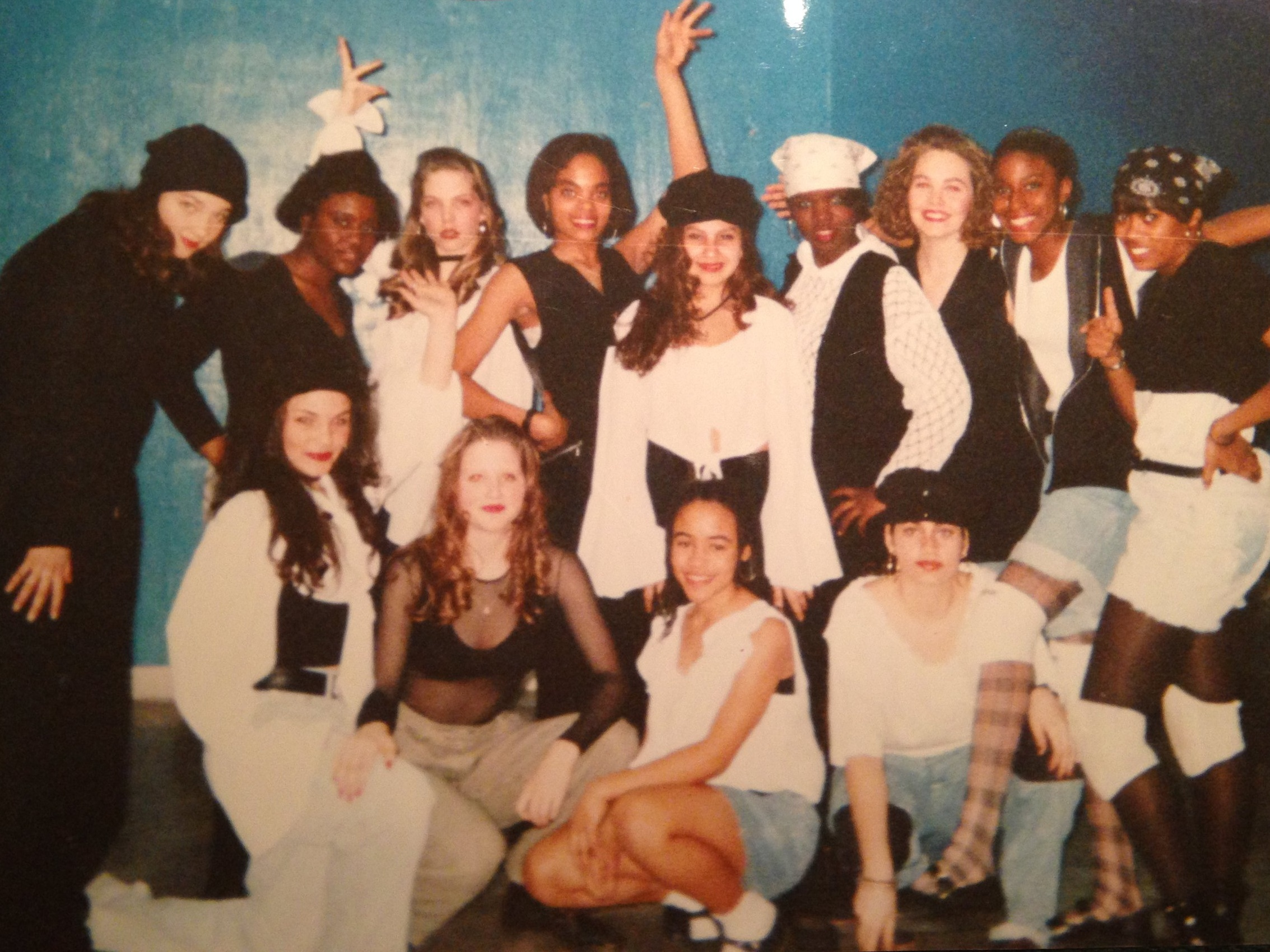 The Fly Girls ~ circa 1994 Britta (2nd from left, bottom row)